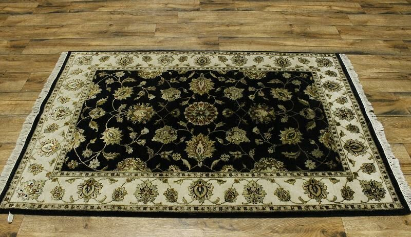 One-of-a-Kind Melissa Jaipur Oriental Hand-Knotted Beige/Blue Area Rug