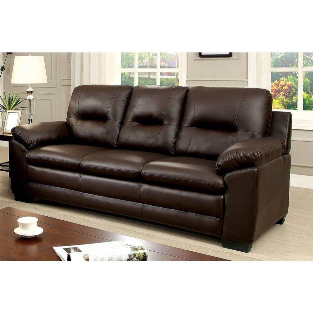 Puccio Contemporary Sofa Upholstery: Brown