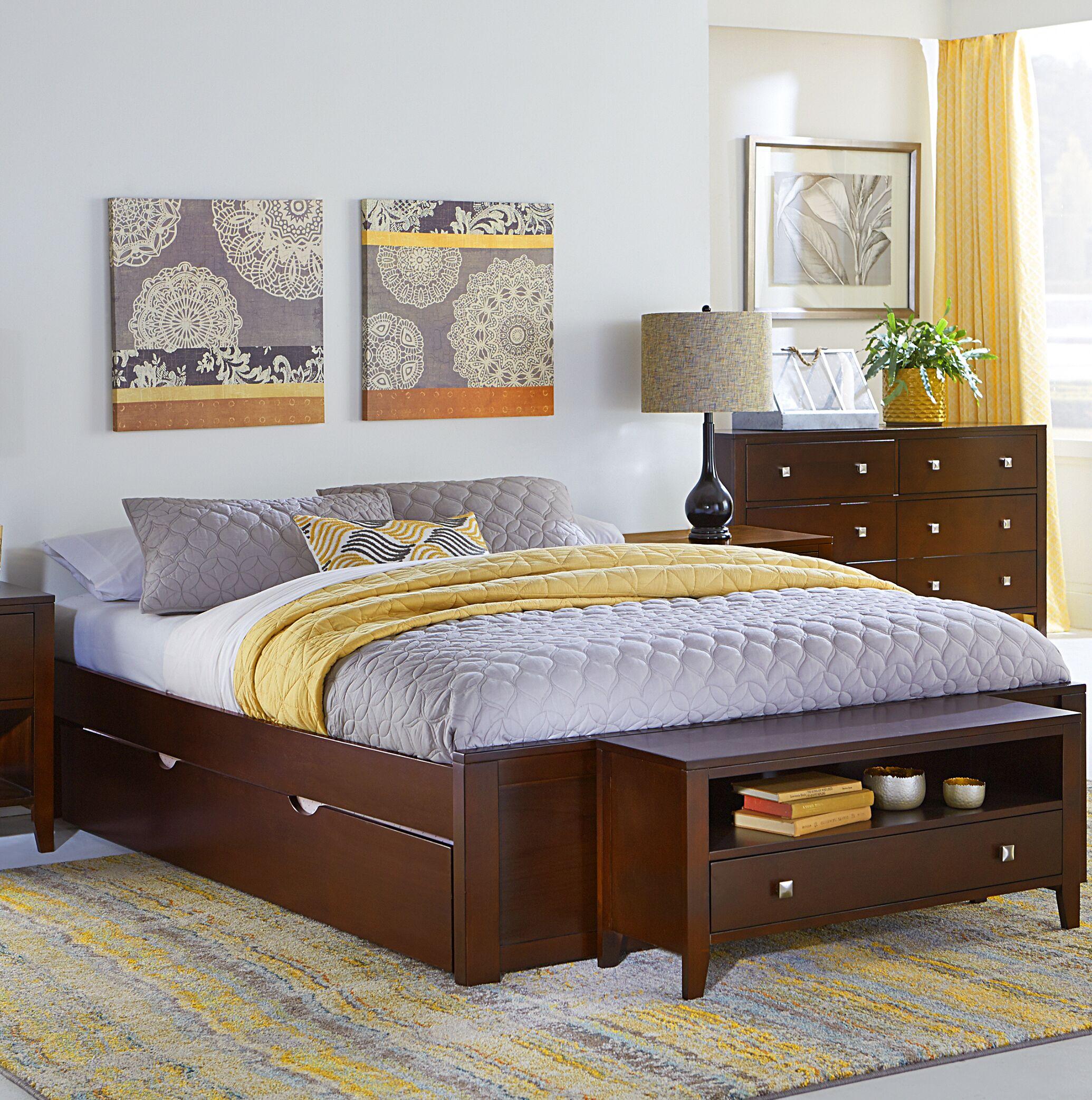 Granville Platform Bed Color: Cherry, Size: Full