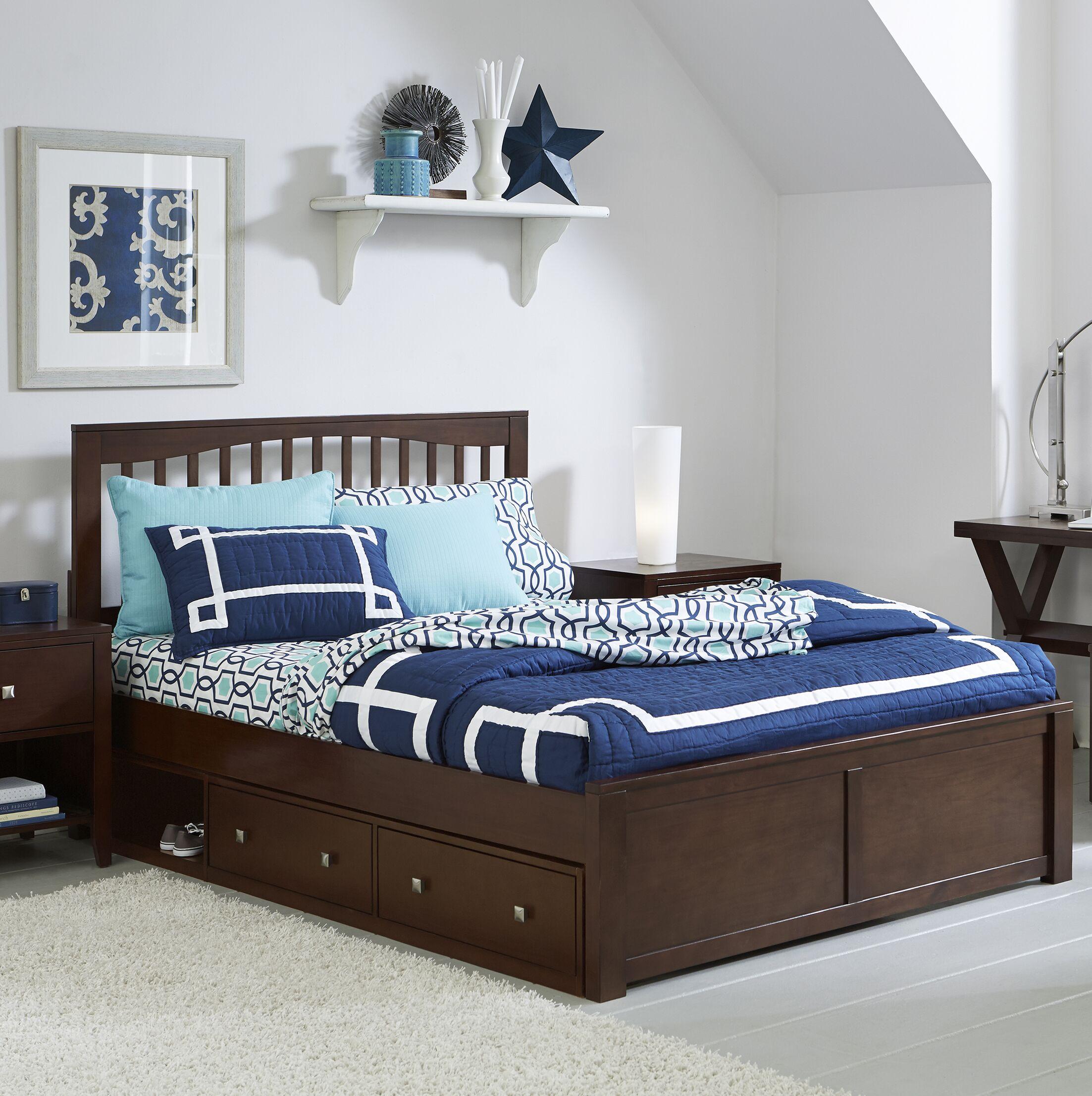 Granville Storage Platform Bed Color: Chocolate, Size: Twin