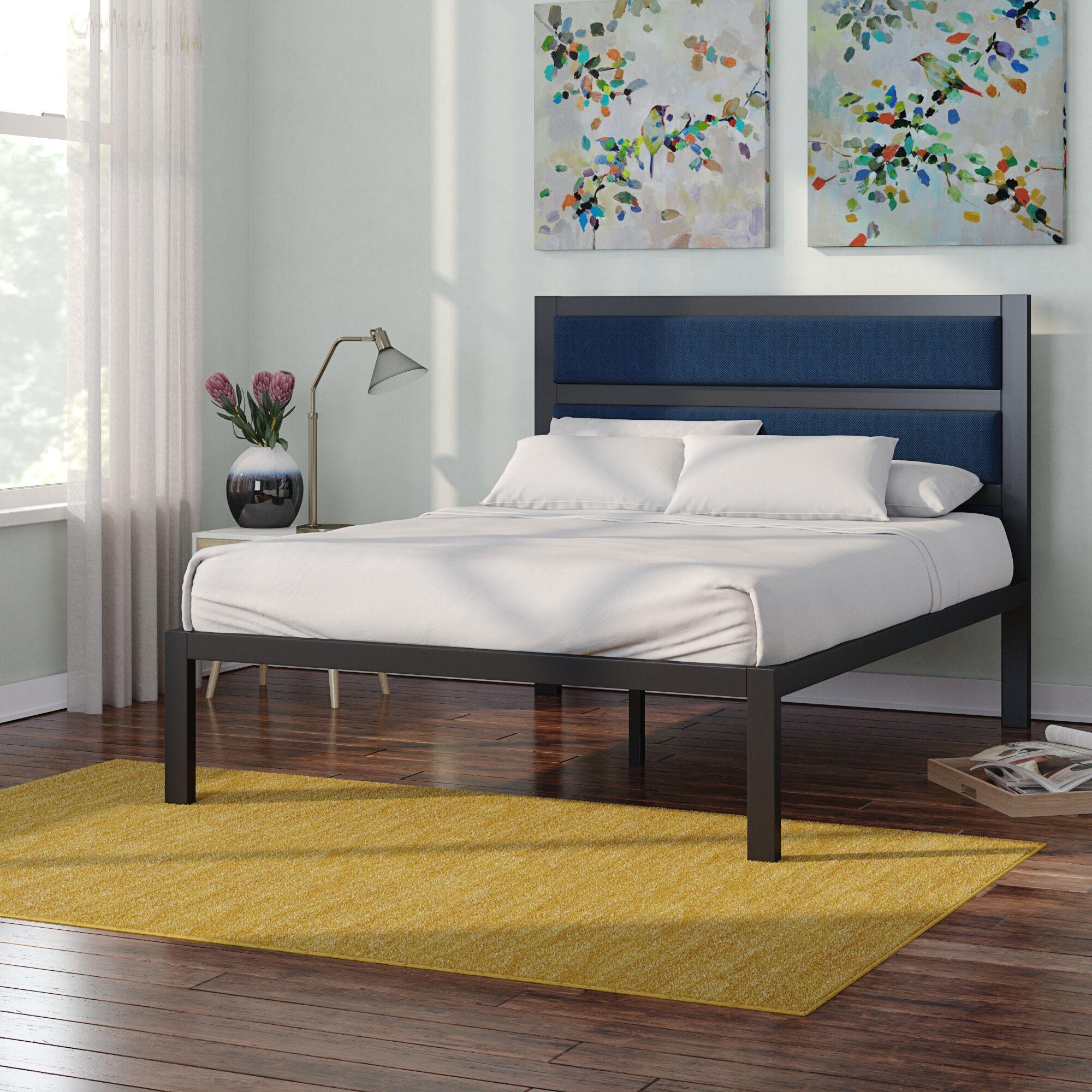 Royse Metal Upholstered Platform Bed Size: Full