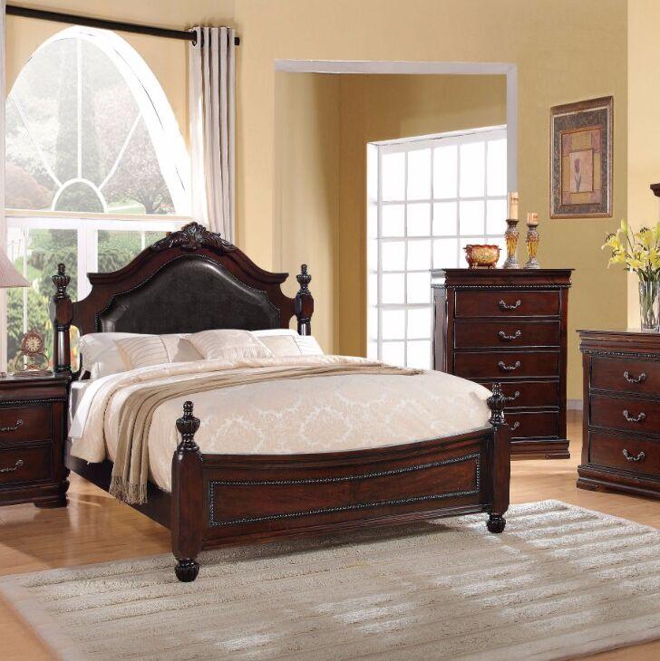 Okeefe Comfortable Wooden Queen Platform Bed