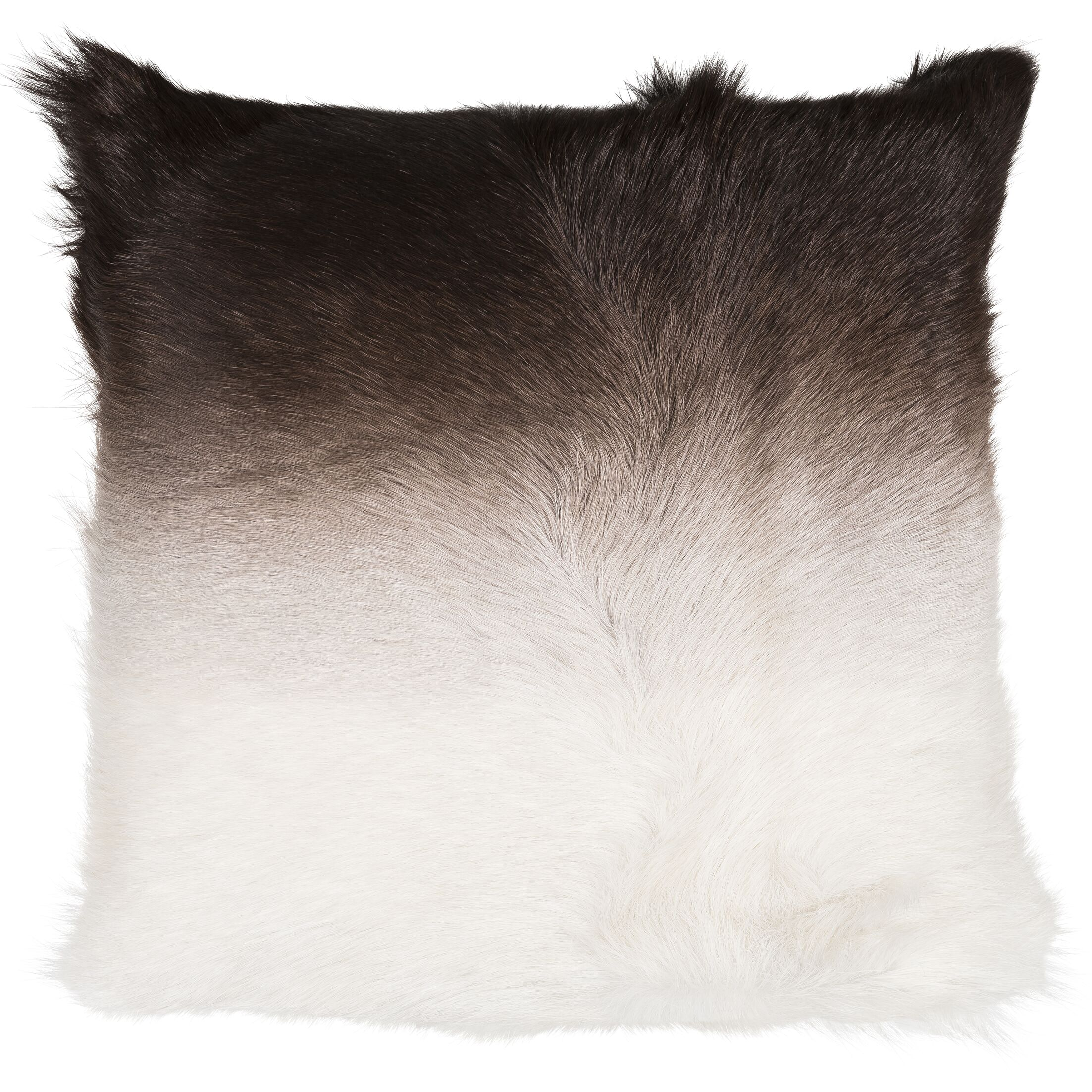 Jessamine Throw Pillow Color: White/Dark Taupe