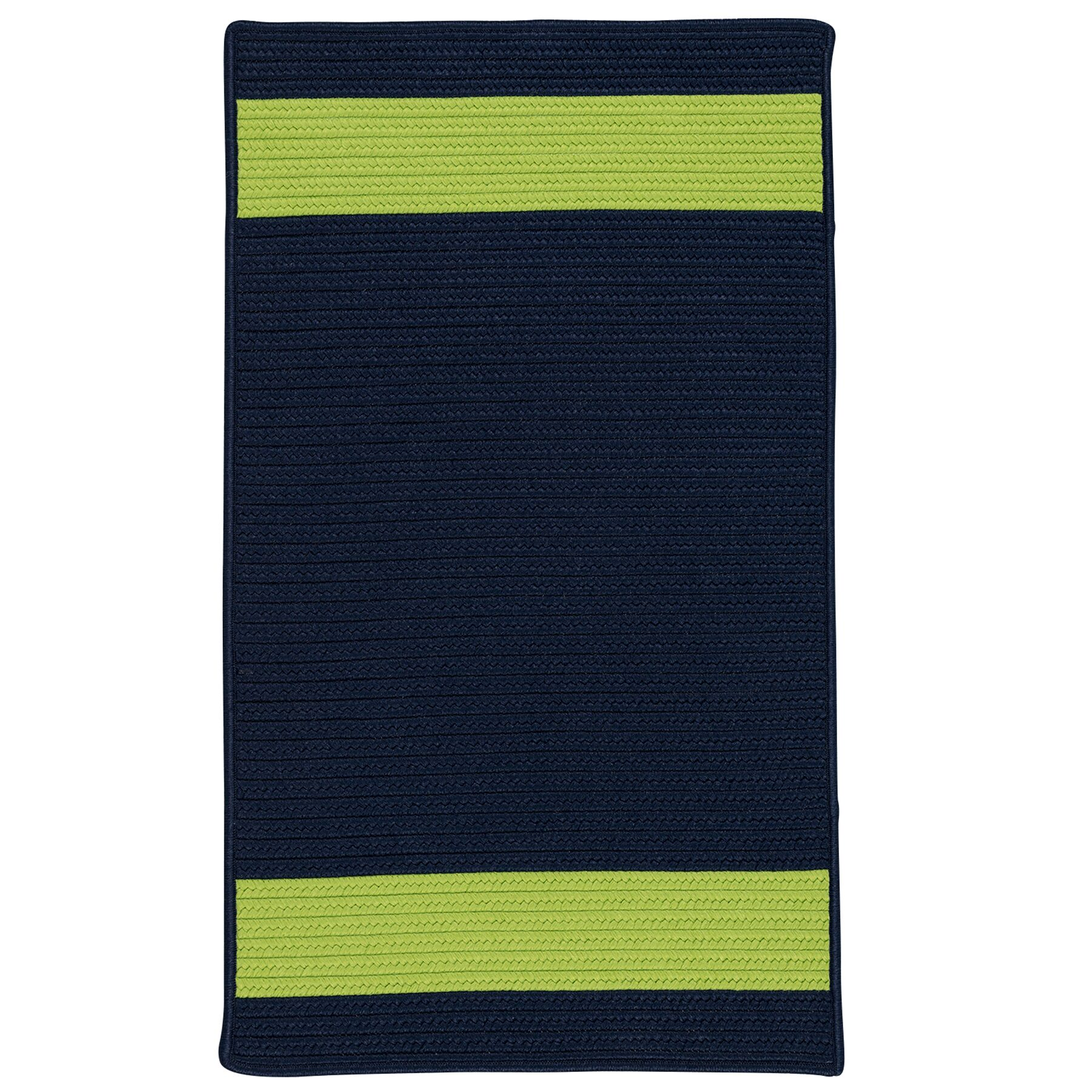 Sumrall Hand-Braided Navy/Green Indoor/Outdoor Area Rug Rug Size: Rectangle 12' x 15'