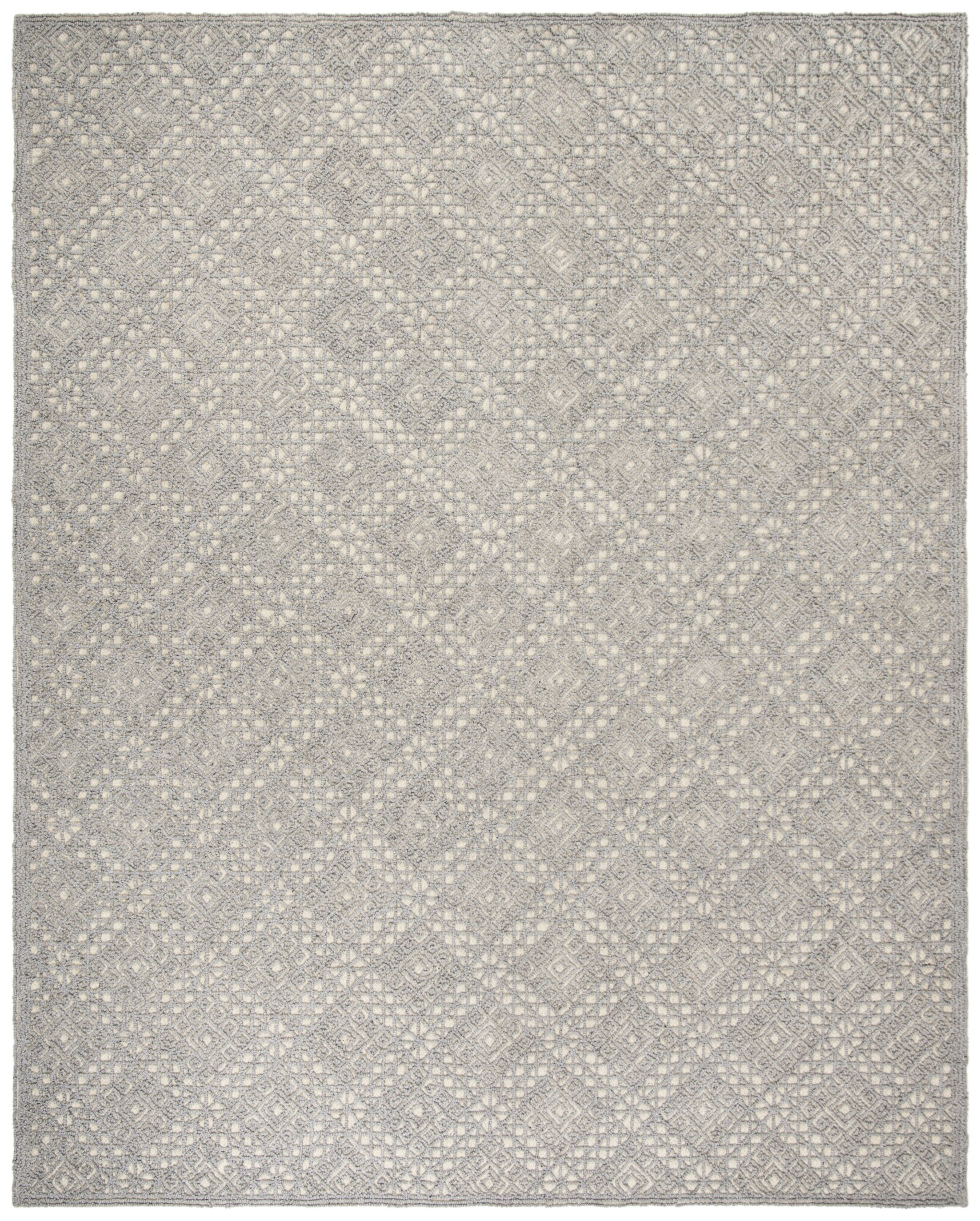 Saranac Hand-Tufted Wool Gray Area Rug Rug Size: Rectangle 8' x 10'