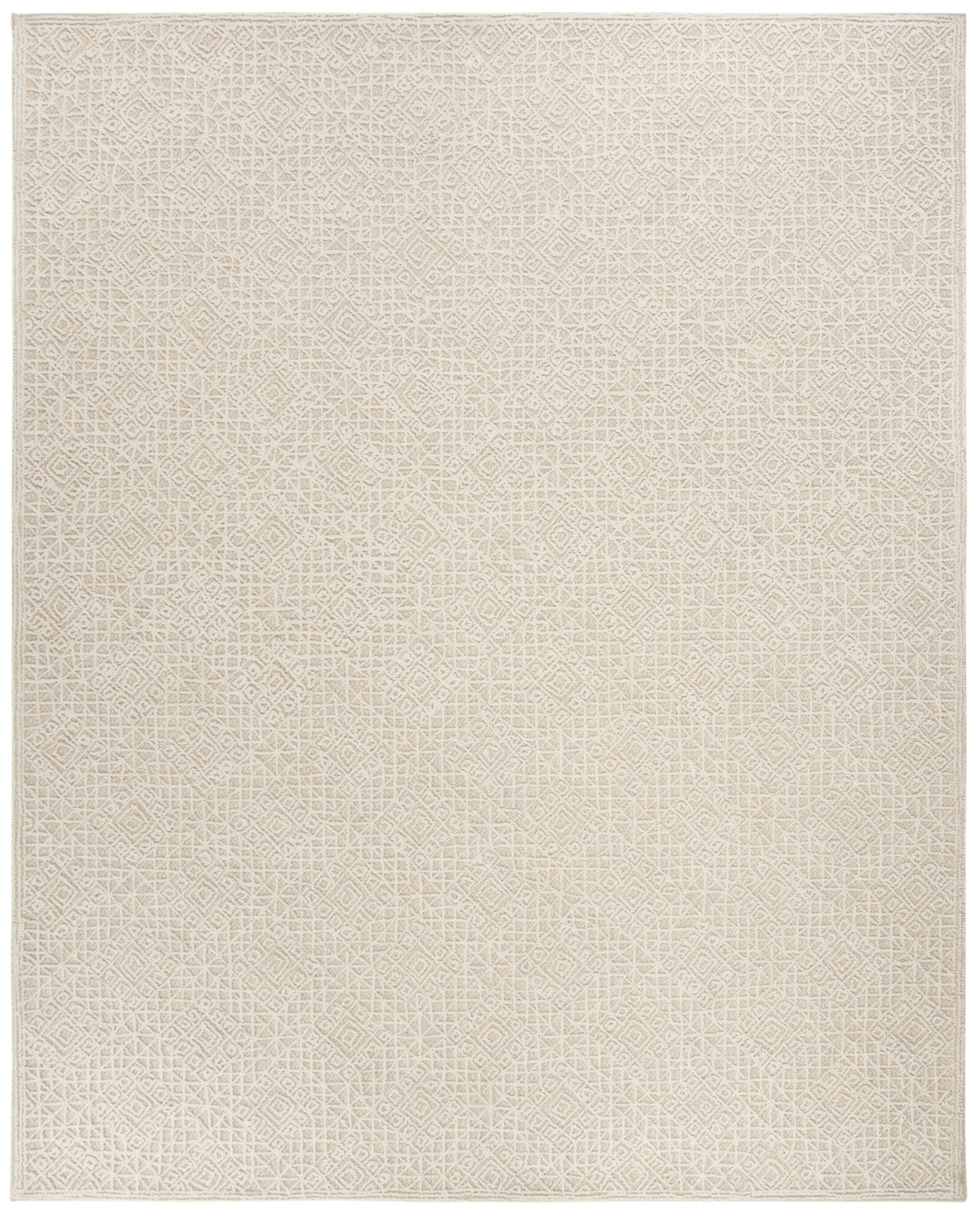 Saranac Hand-Tufted Wool Light Beige Area Rug Rug Size: Rectangle 5' x 8'