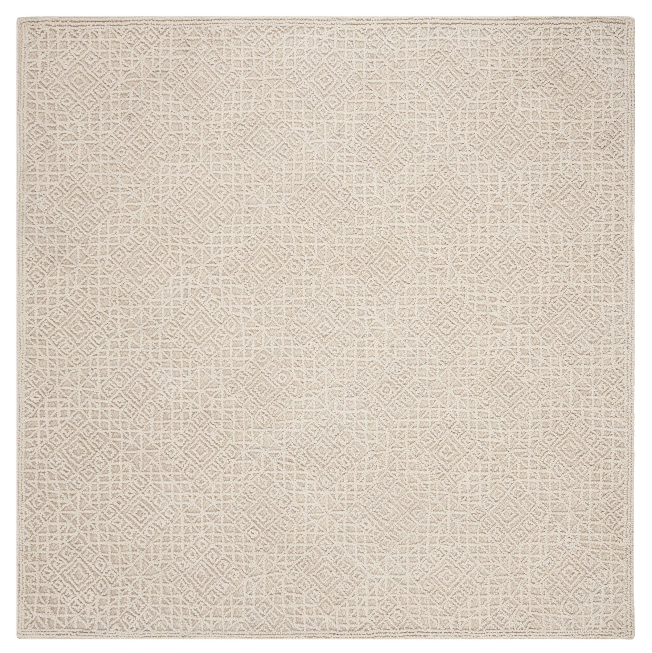 Saranac Hand-Tufted Wool Light Beige Area Rug Rug Size: Square 6' x 6'