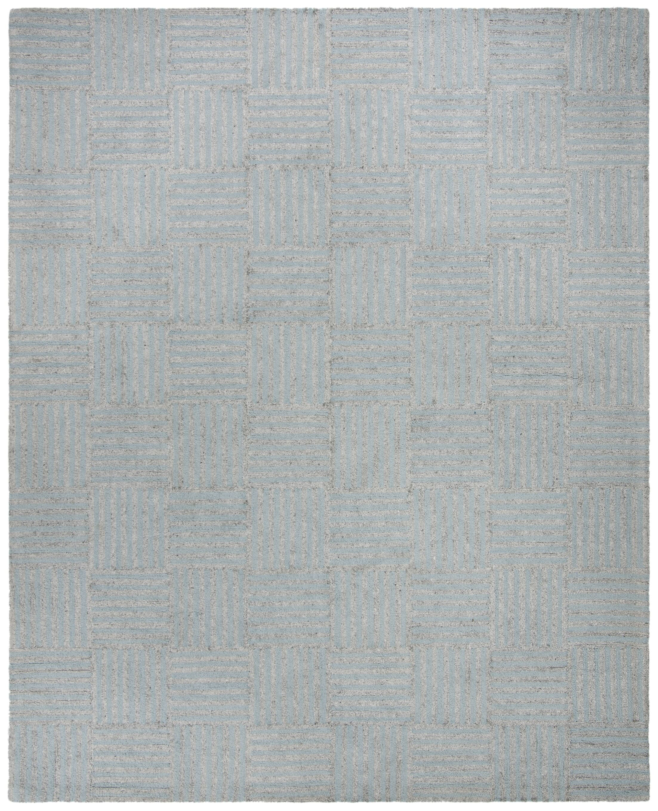 Brendan Hand-Tufted Blue/Gray Area Rug Rug Size: Rectangle 5' x 8'