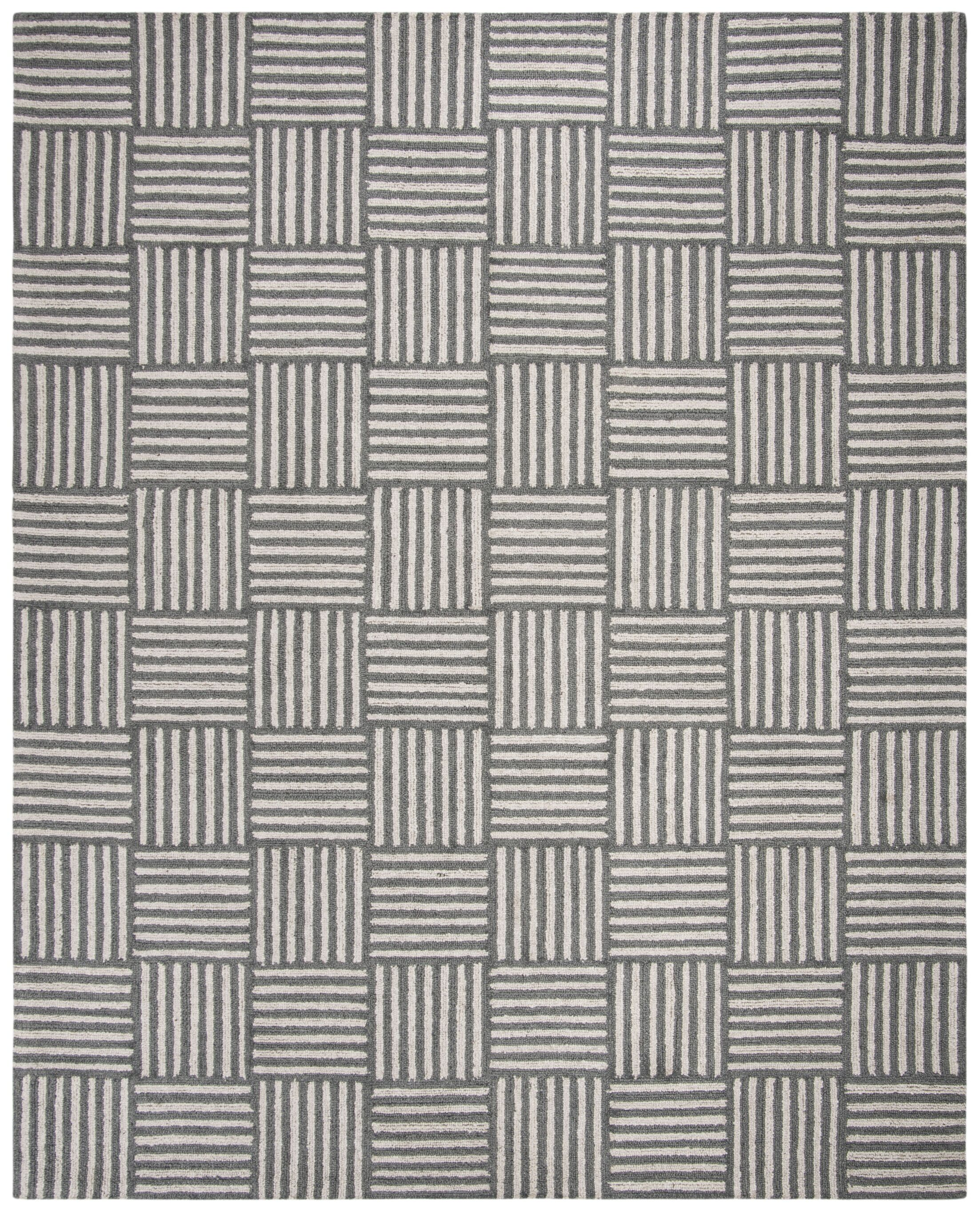 Brendan Hand-Tufted Ivory/Dark Gray Area Rug Rug Size: Rectangle 8' x 10'