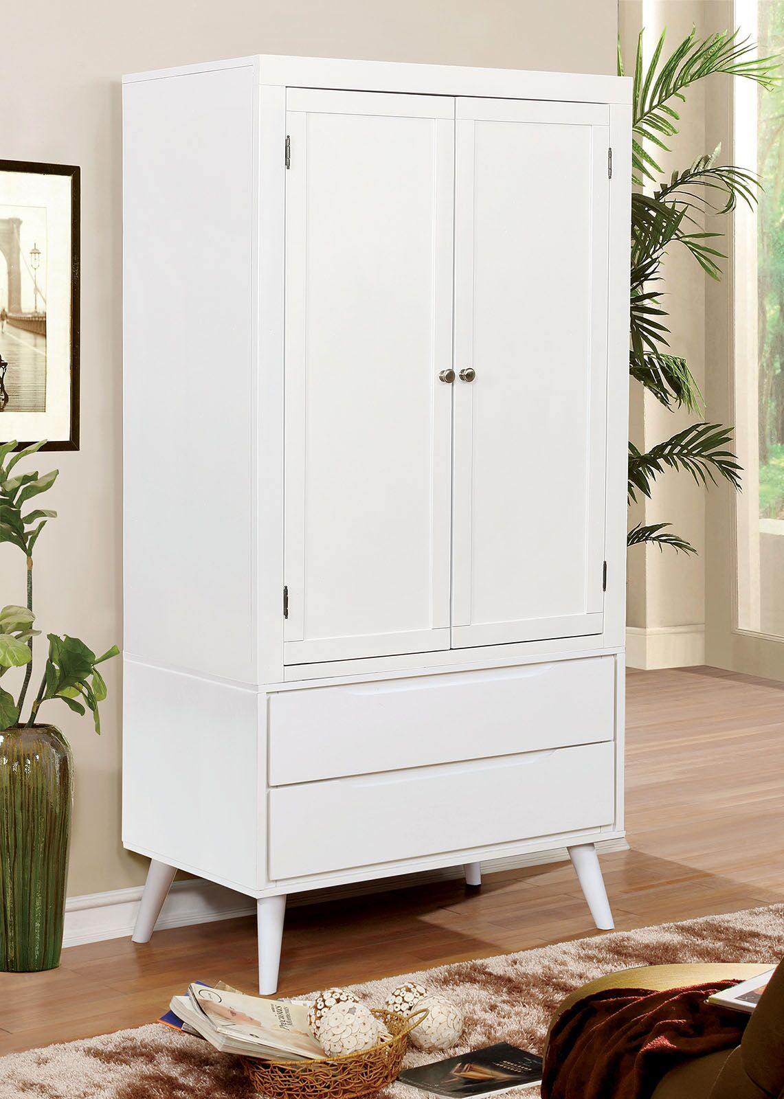 Ector Armoire Color: White