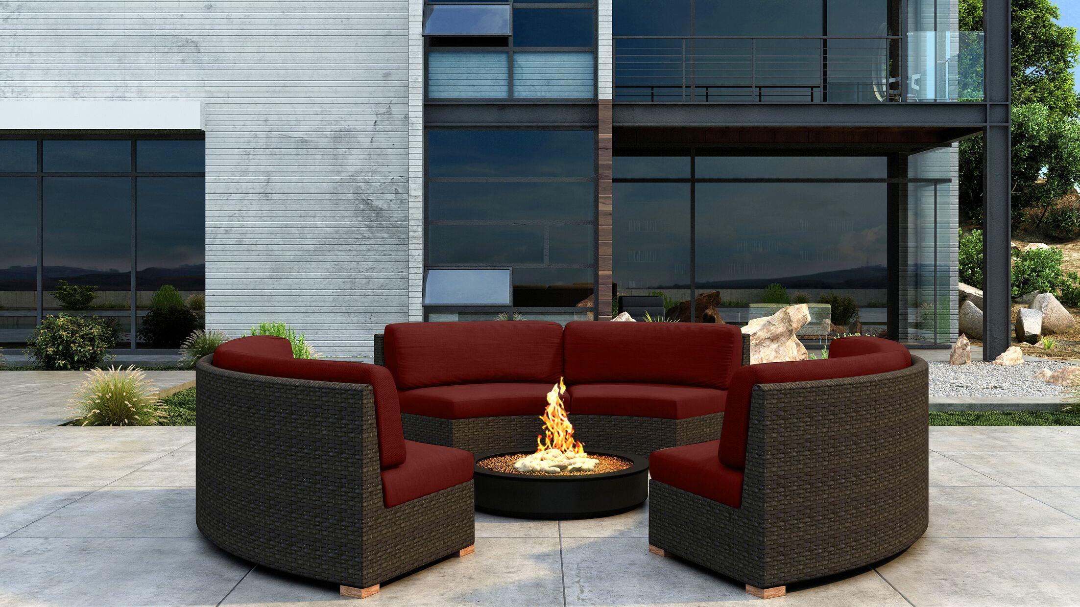 Glen Ellyn 3 Piece Sectional Set with Sunbrella Cushion Cushion Color: Canvas Henna