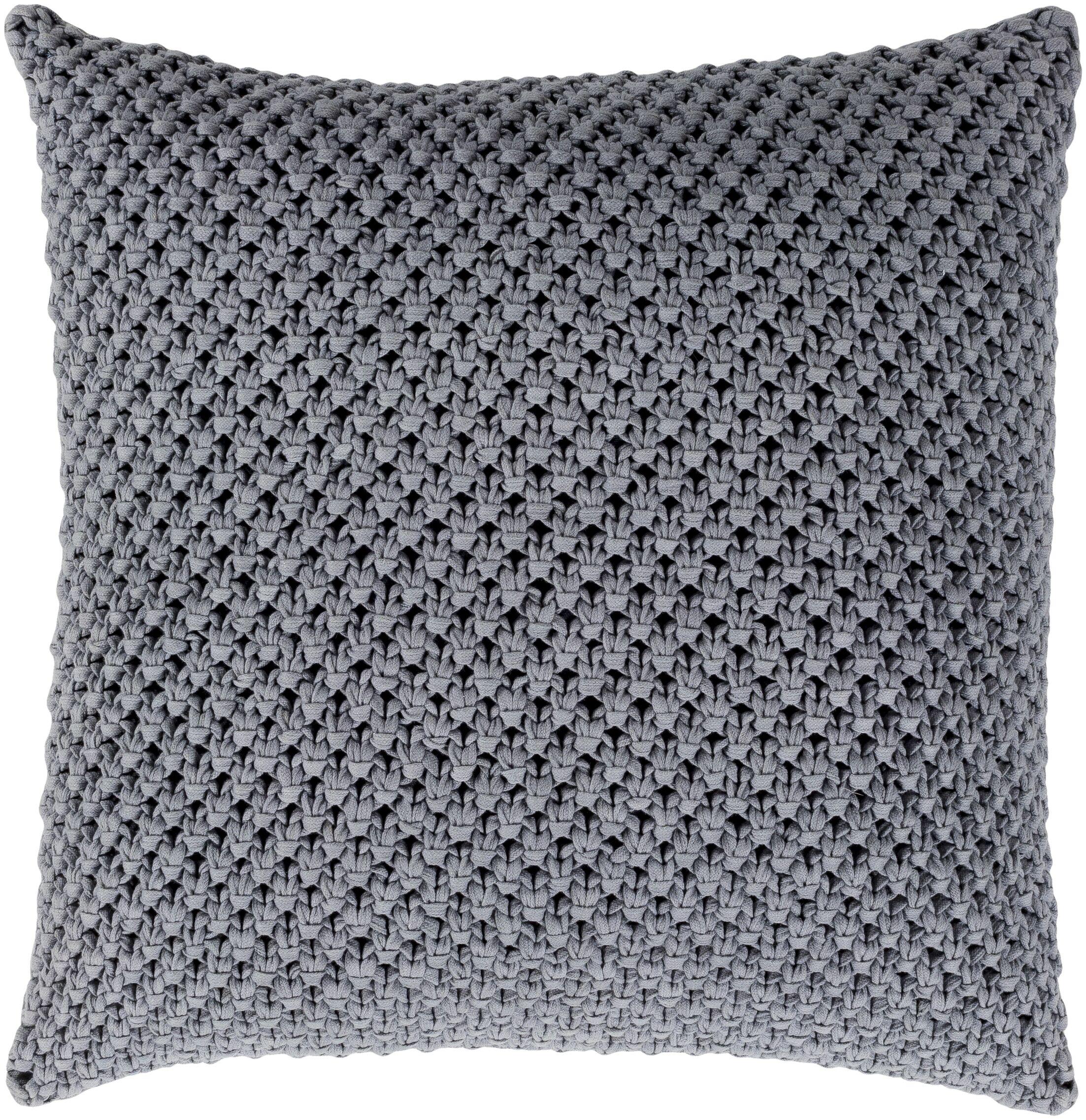 Godavari Natural Fiber Pillow Cover Fill Material: Poly Fill, Size: 22