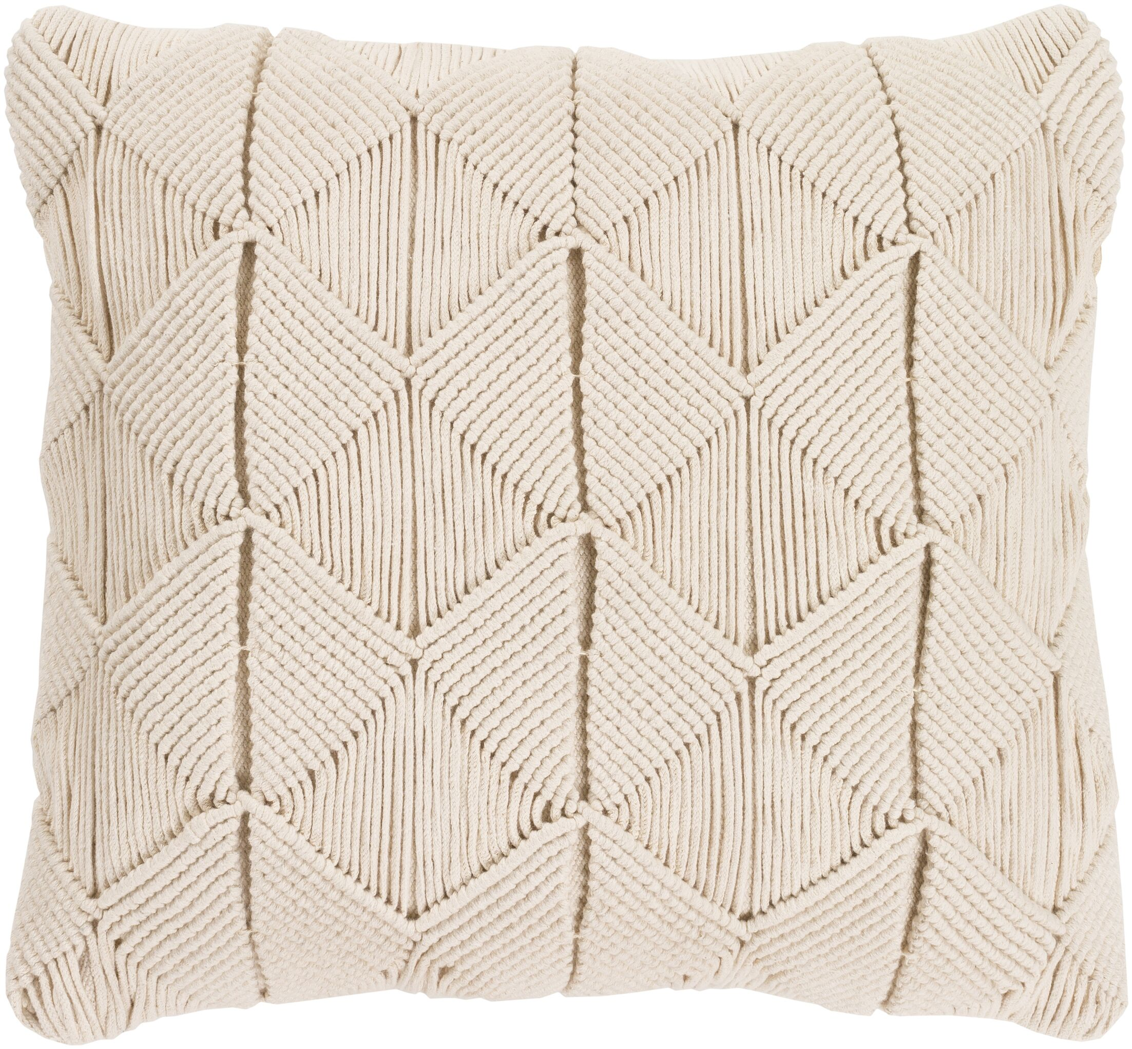 Migramah Sage Natural Fiber 22 x 22 Pillow Cover Fill Material: Poly Fill, Size: 22