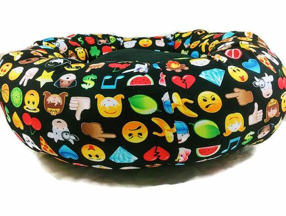 Emoticon Smile Round Bolster Size: Small (16