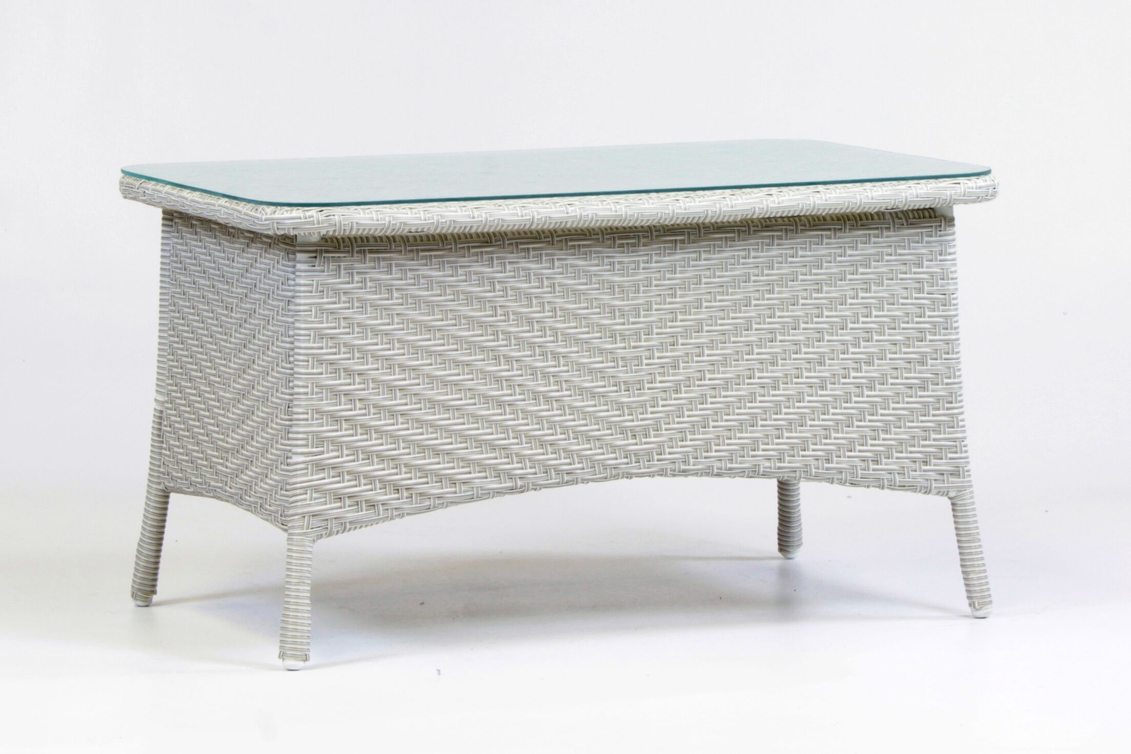 Isabell Wicker Coffee Table Color: Chocolate Brown