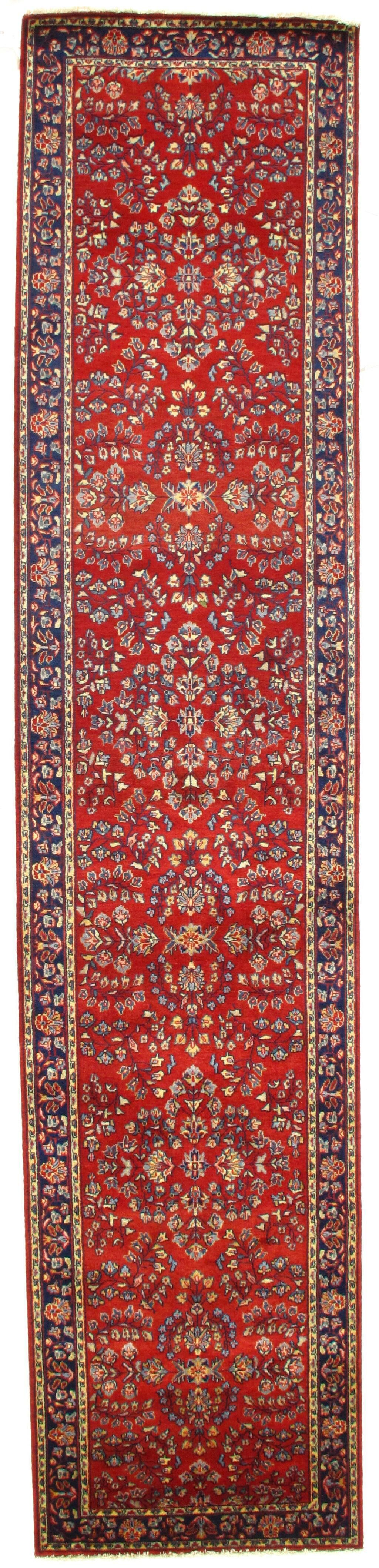 Sarouk Hand-Knotted Wool Red Area Rug