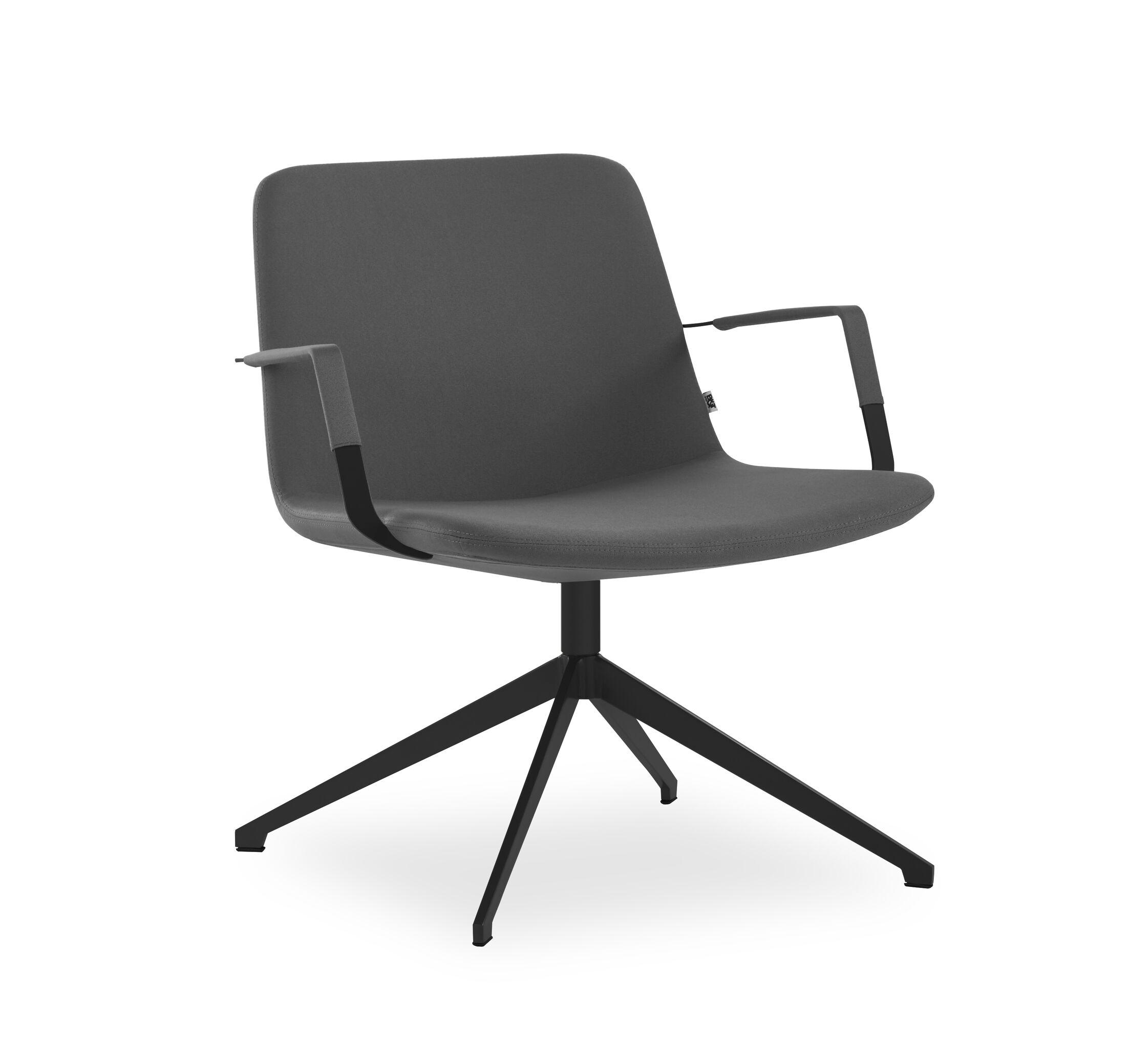 Fechteler Swivel Lounge Chair Seat Color: Antracite, Finish: Black