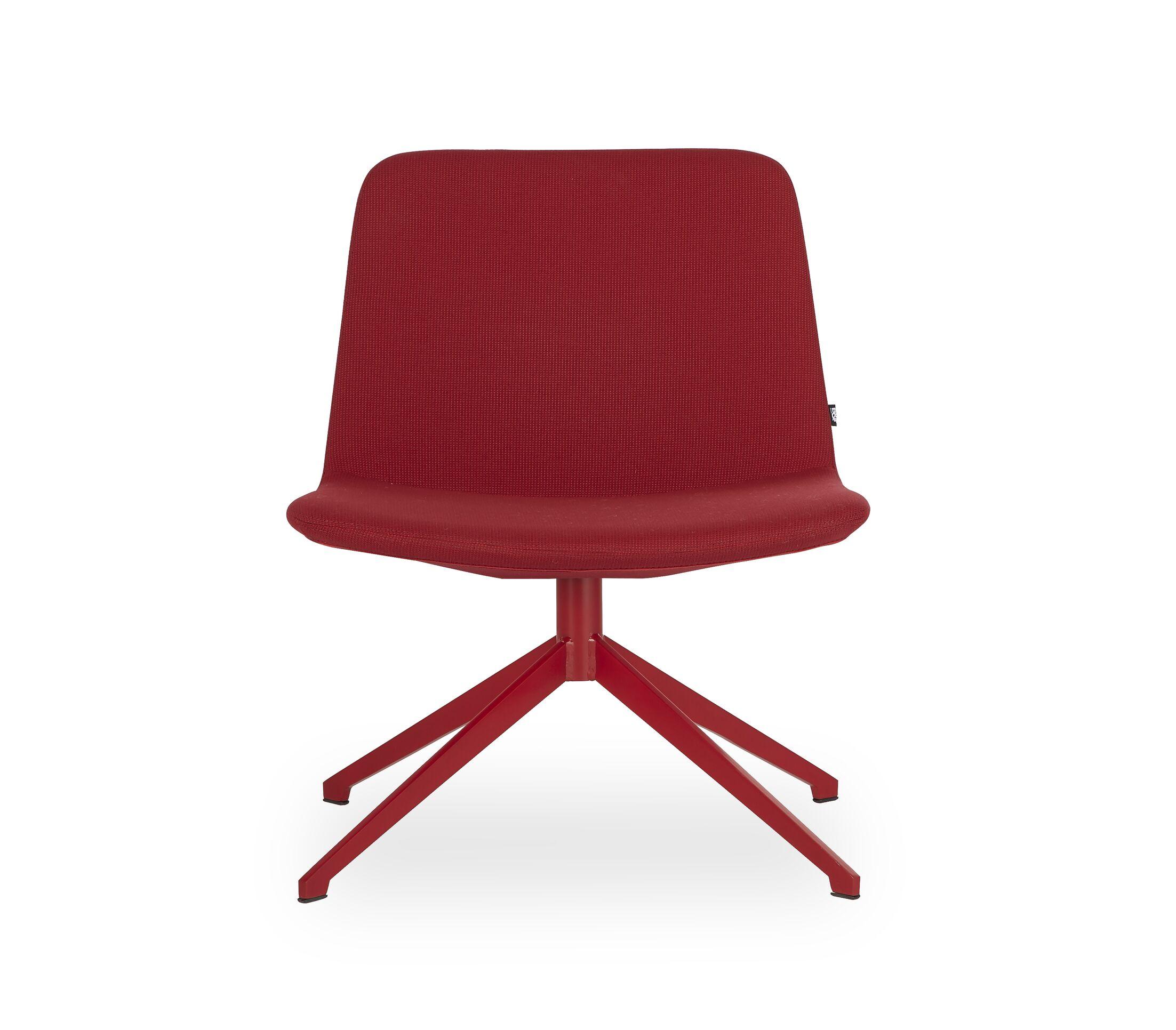 Fechteler Swivel Side Chair Seat Color: Red, Finish: Red