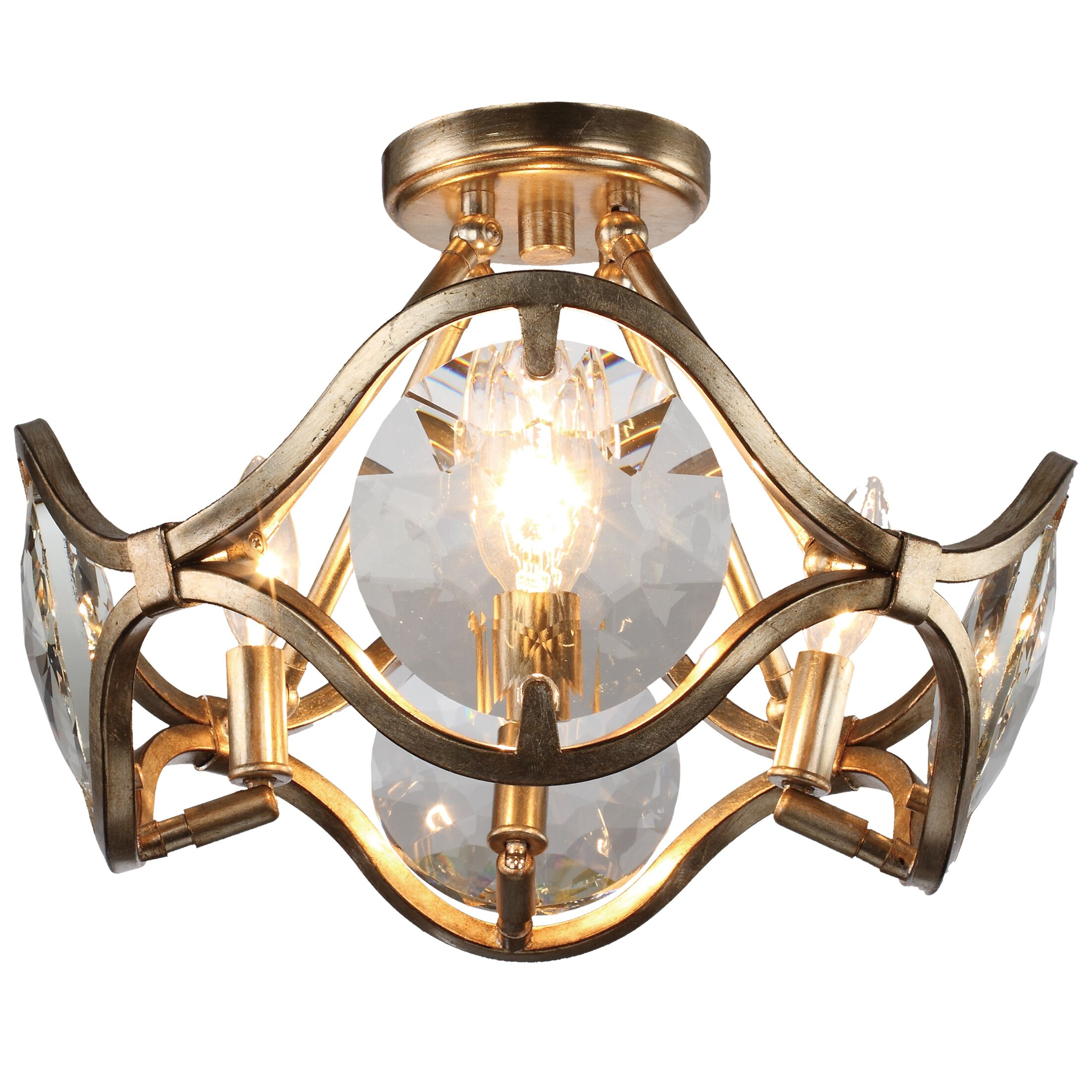 Geil 4-Light Semi Flush Mount