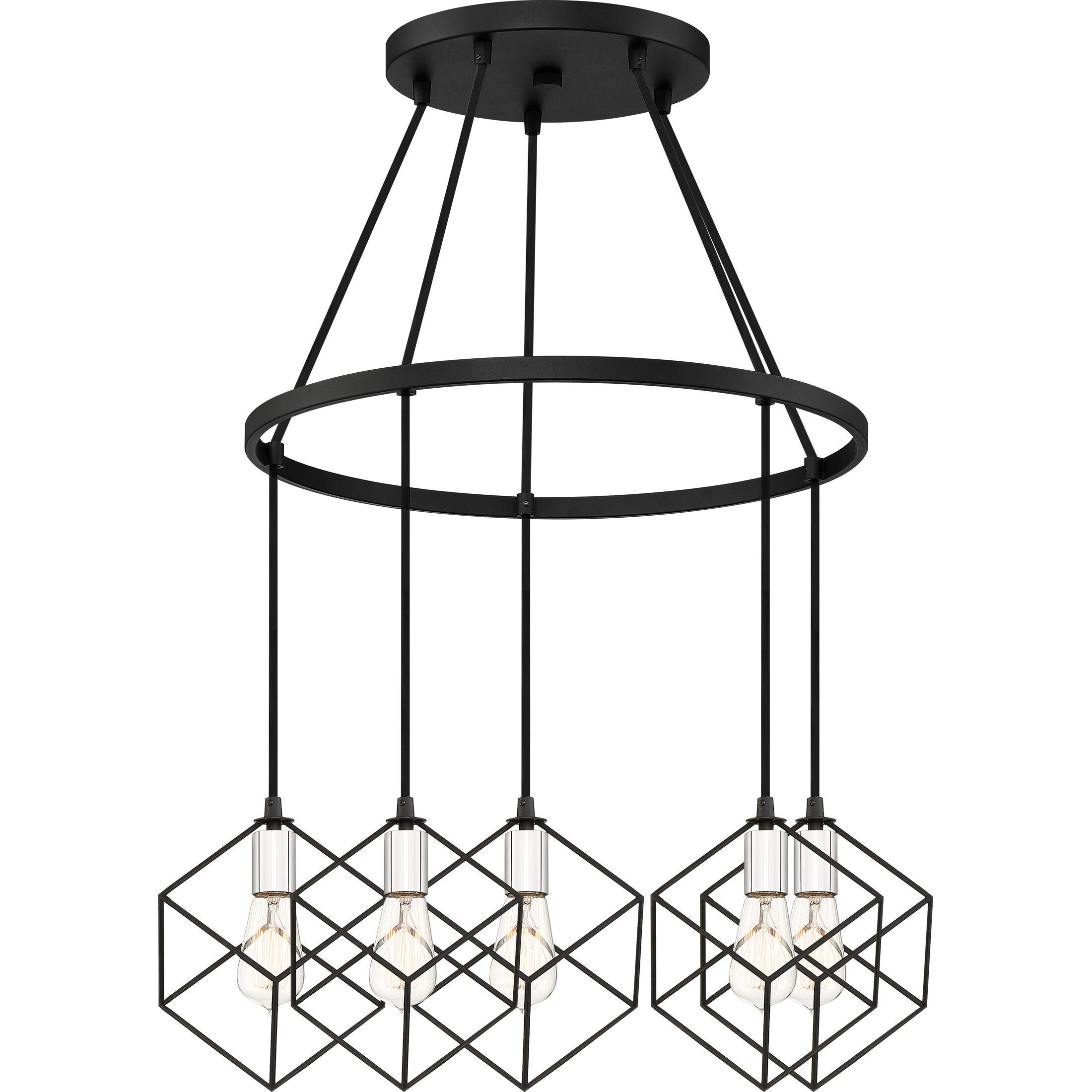 Theodorus 5-Light Geometric Chandelier