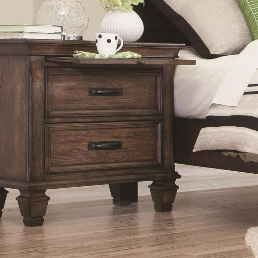 Friddle 2 Drawer Nightstand Color: Burnished Oak