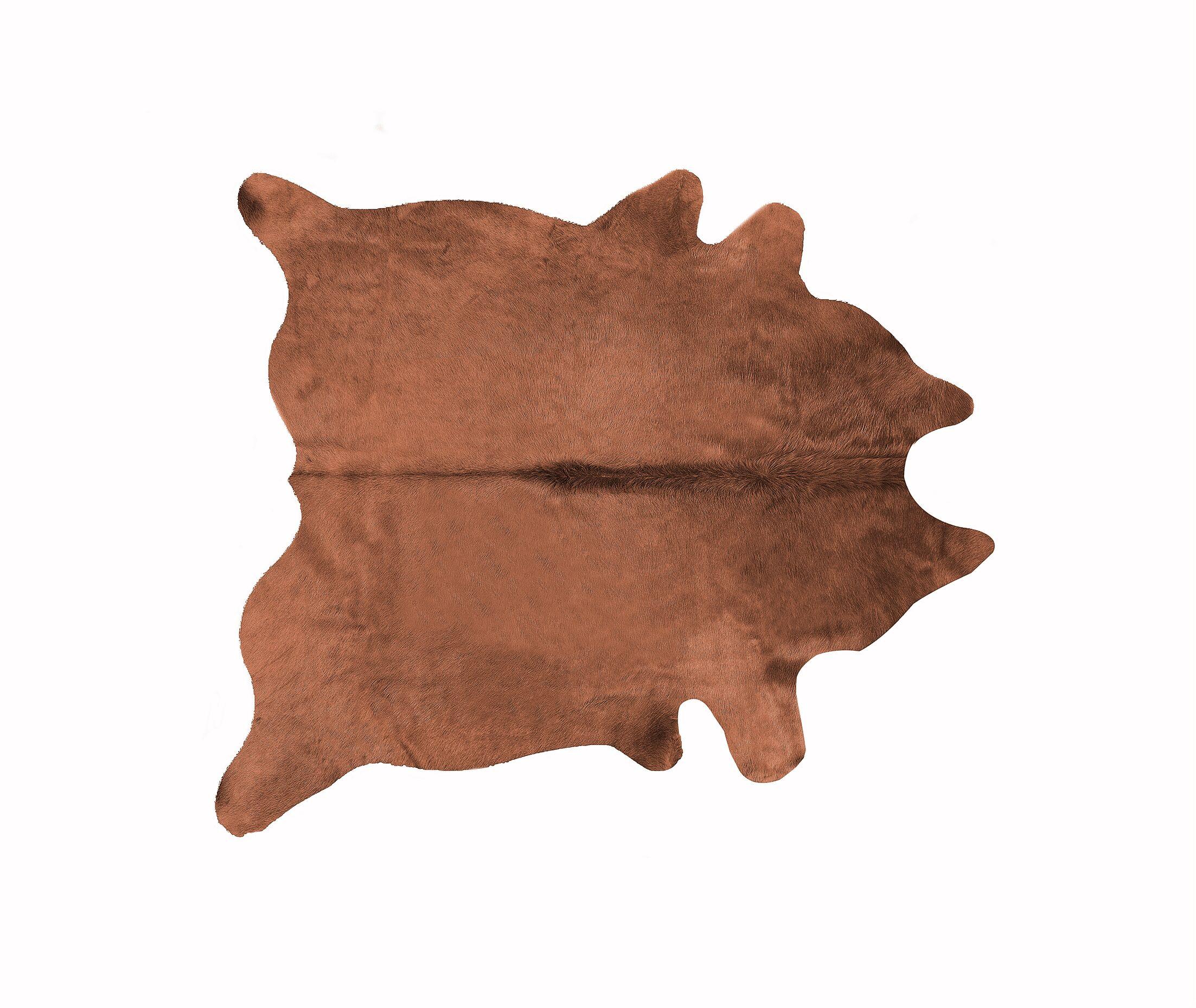 Geneva Cowhide 6' x 7' Rug in Brown