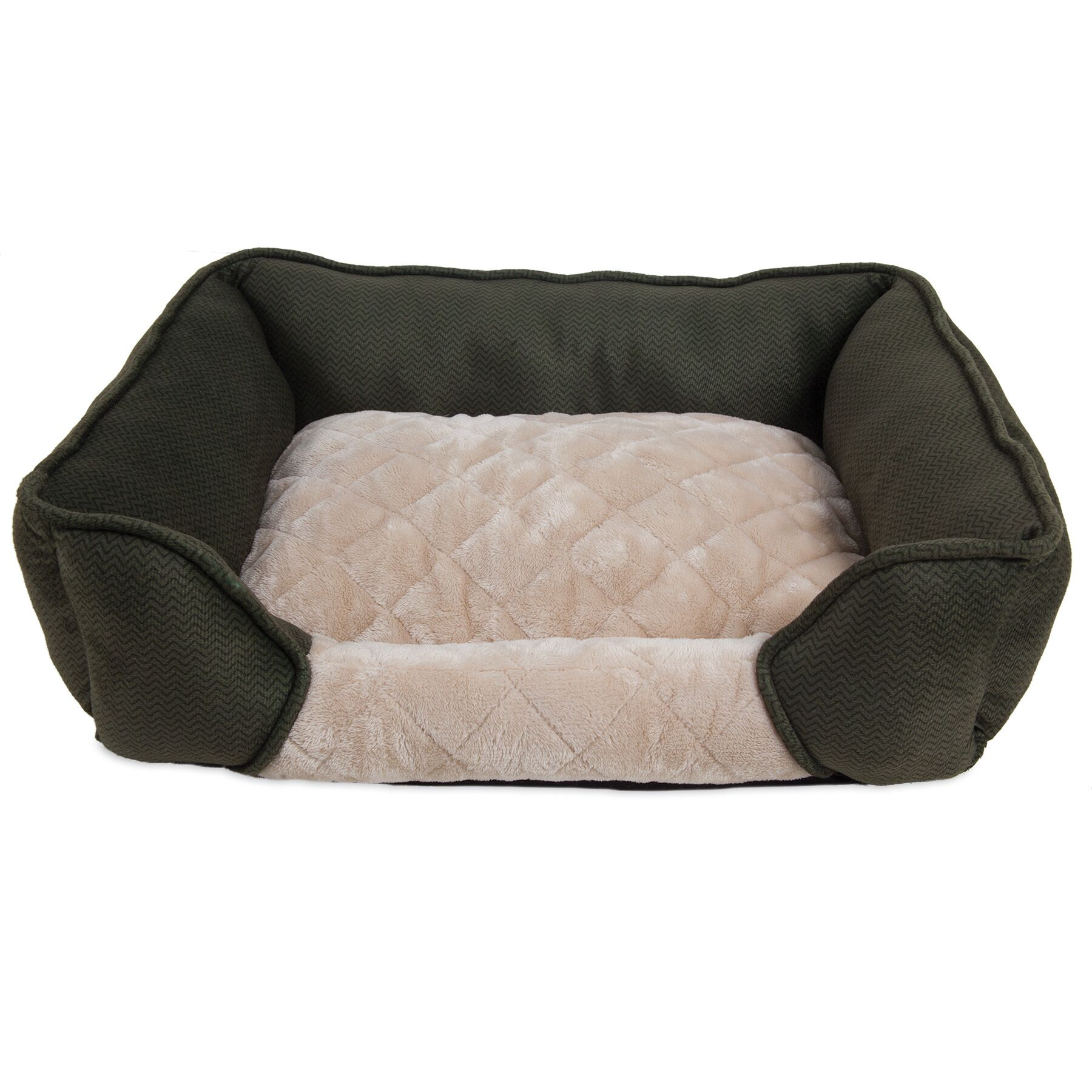 Thalia Quilted Rectangular Lounger Bolster Dog Bed