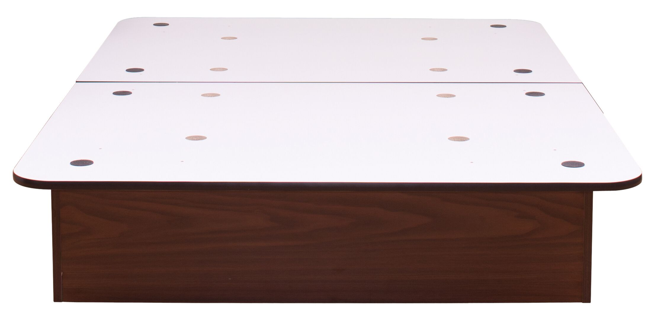 Asha Platform Bed Size: King, Color: Columbian Walnut