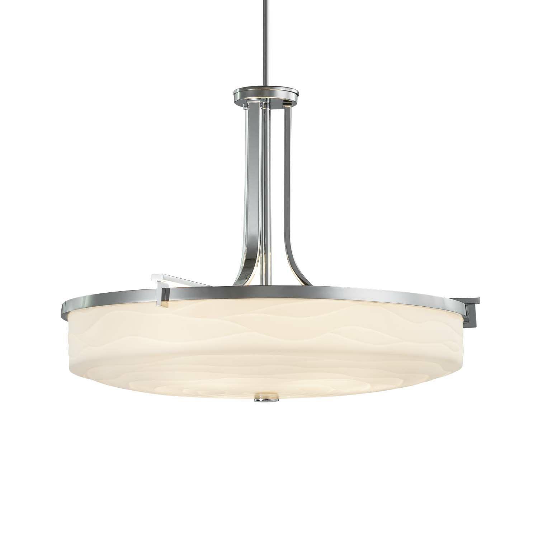 Salaam 6-Light Bowl Pendant Finish: Dark Bronze, Shade Finish: Sawtooth, Bulb Type: Dedicated LED