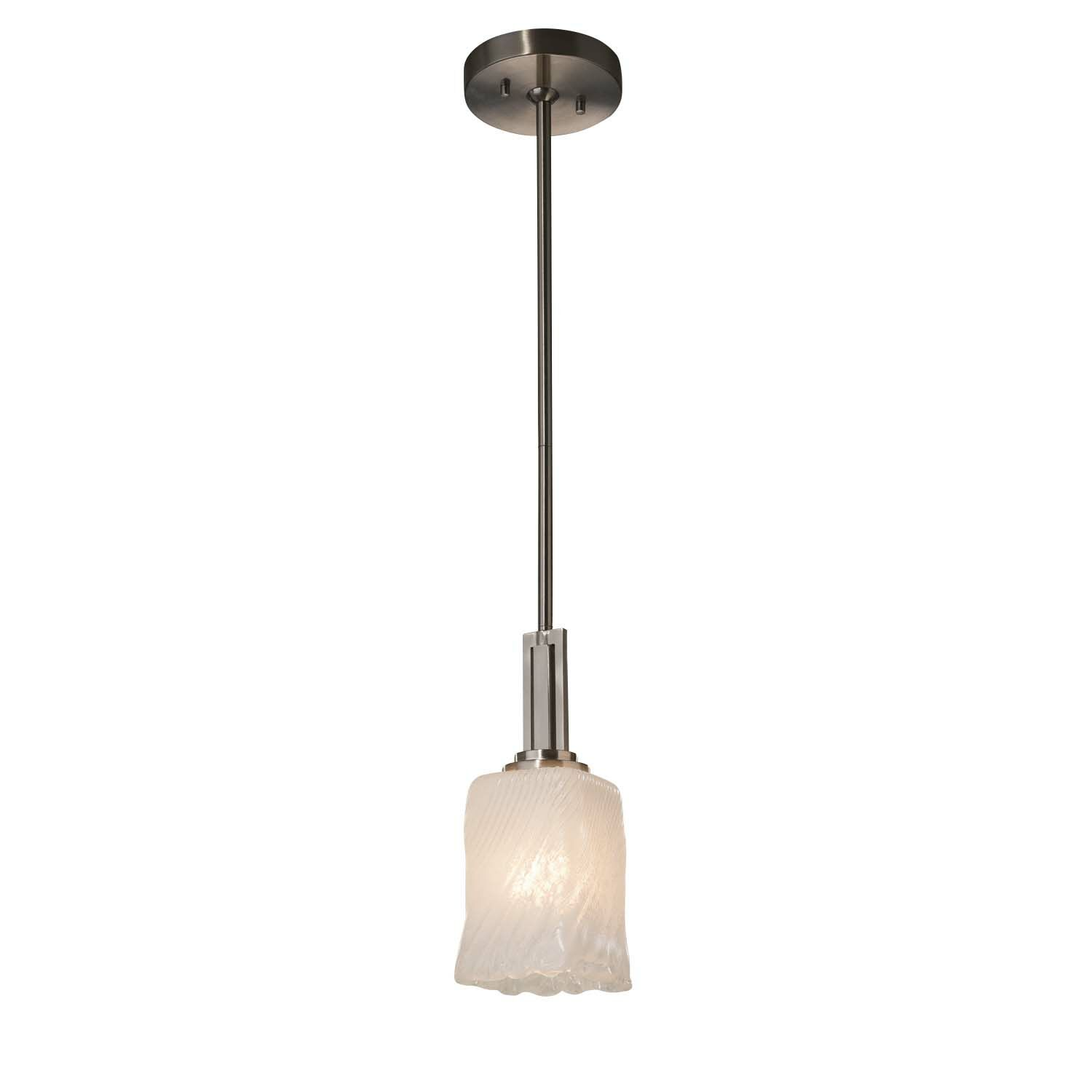 Kelli 1-Light Bell Pendant Finish: Matte Black, Shade Color: White Frosted, Bulb Type: Incandescent
