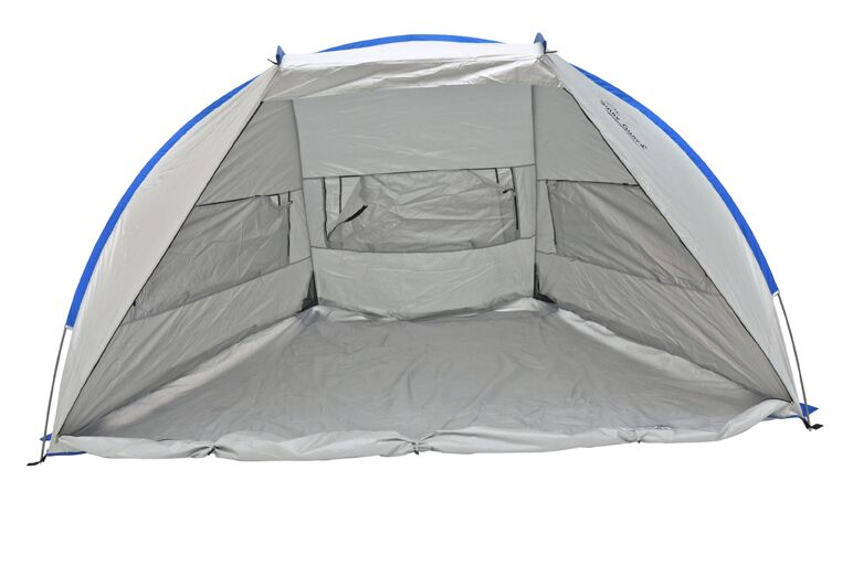 Jumbo Deluxe Beach 2 Person Tent with Carry Bag Color: Gray