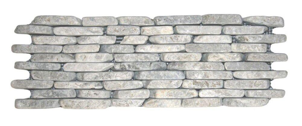Kapuas Random Sized Natural Stone Mosaic Tile in Stone Gray