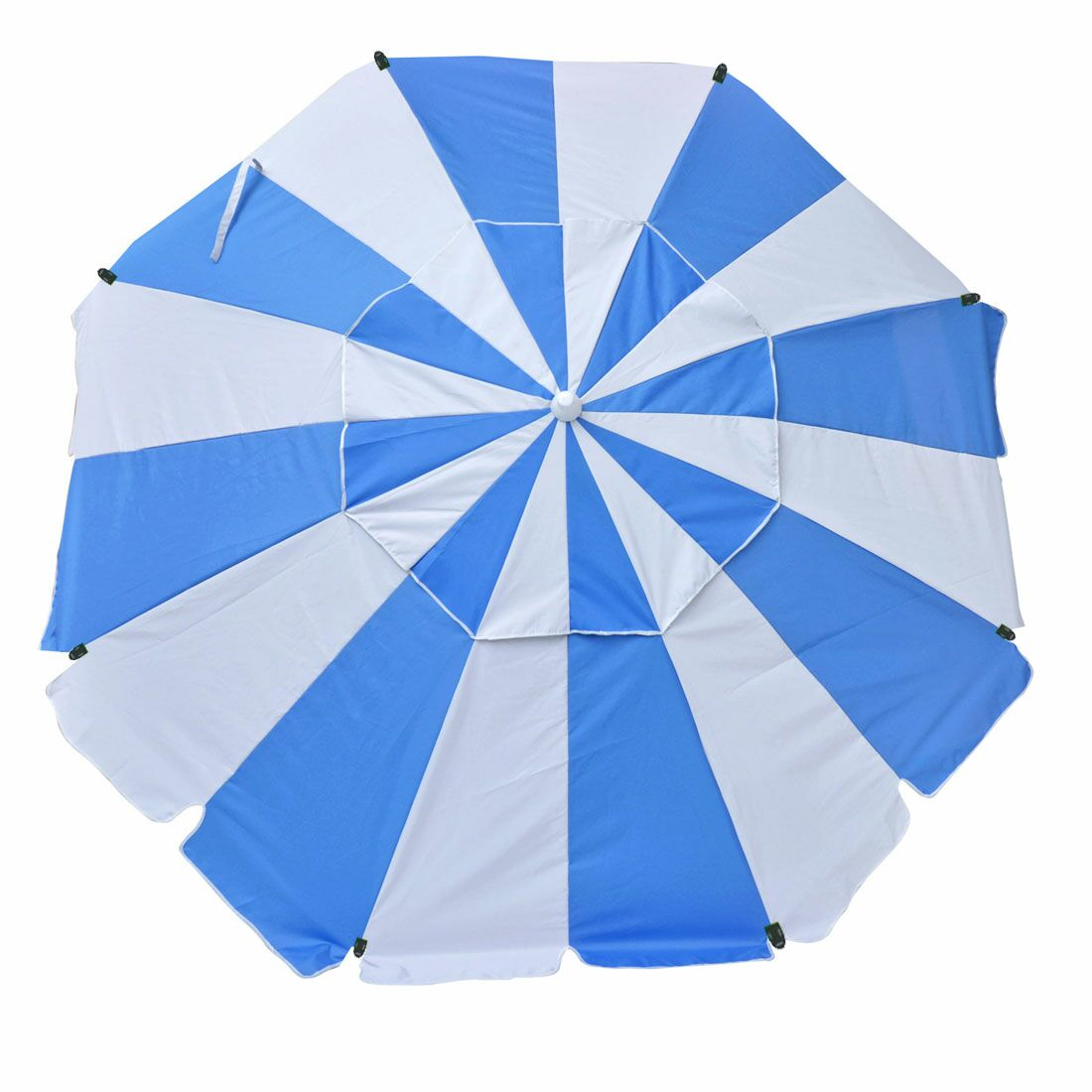Schroeder Heavy Duty 8' Beach Umbrella Pole Type: Standard Pole, Fabric Color: Blue/White