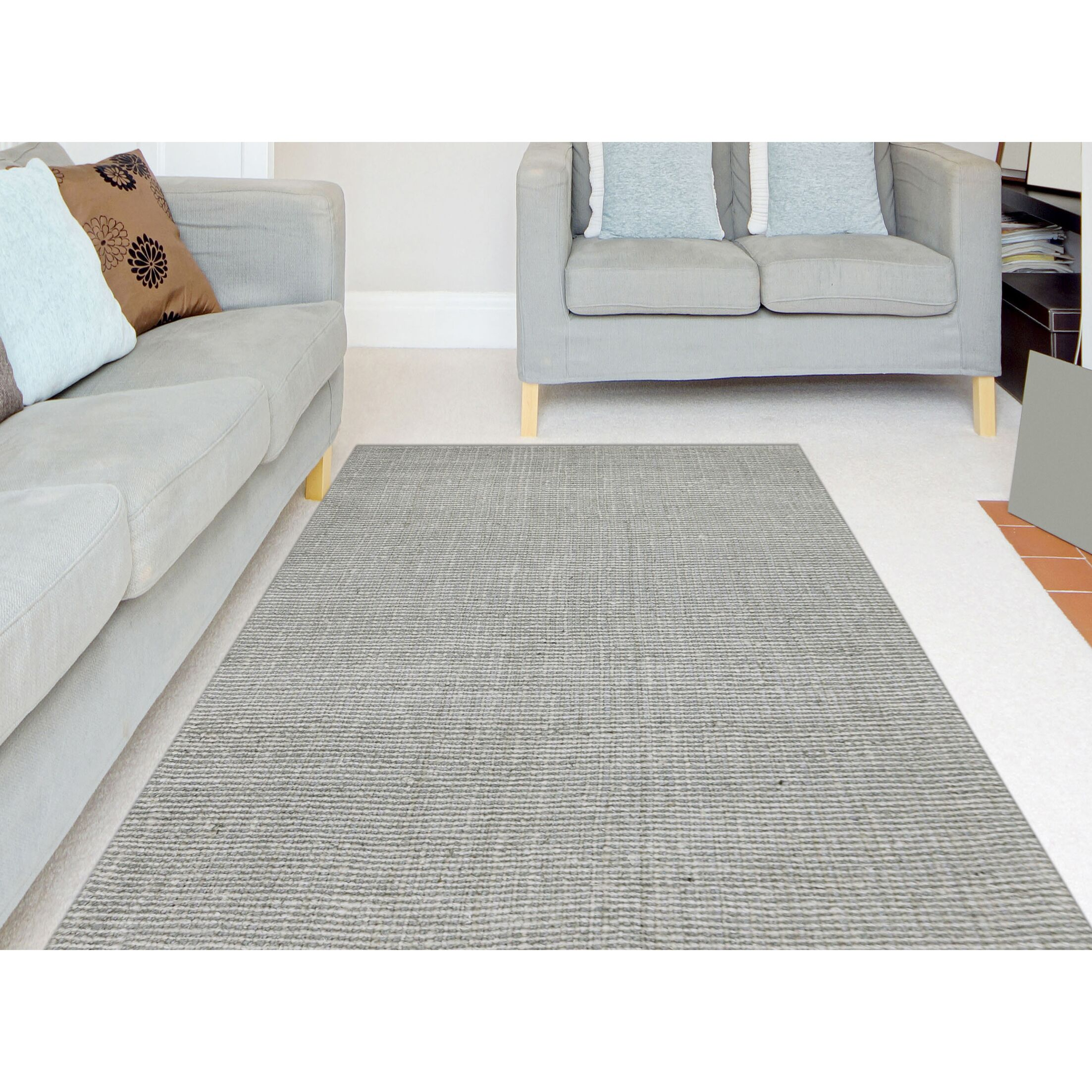 Gathers Hand-Woven Silver Area Rug Rug Size: Rectangle 8' x 10'