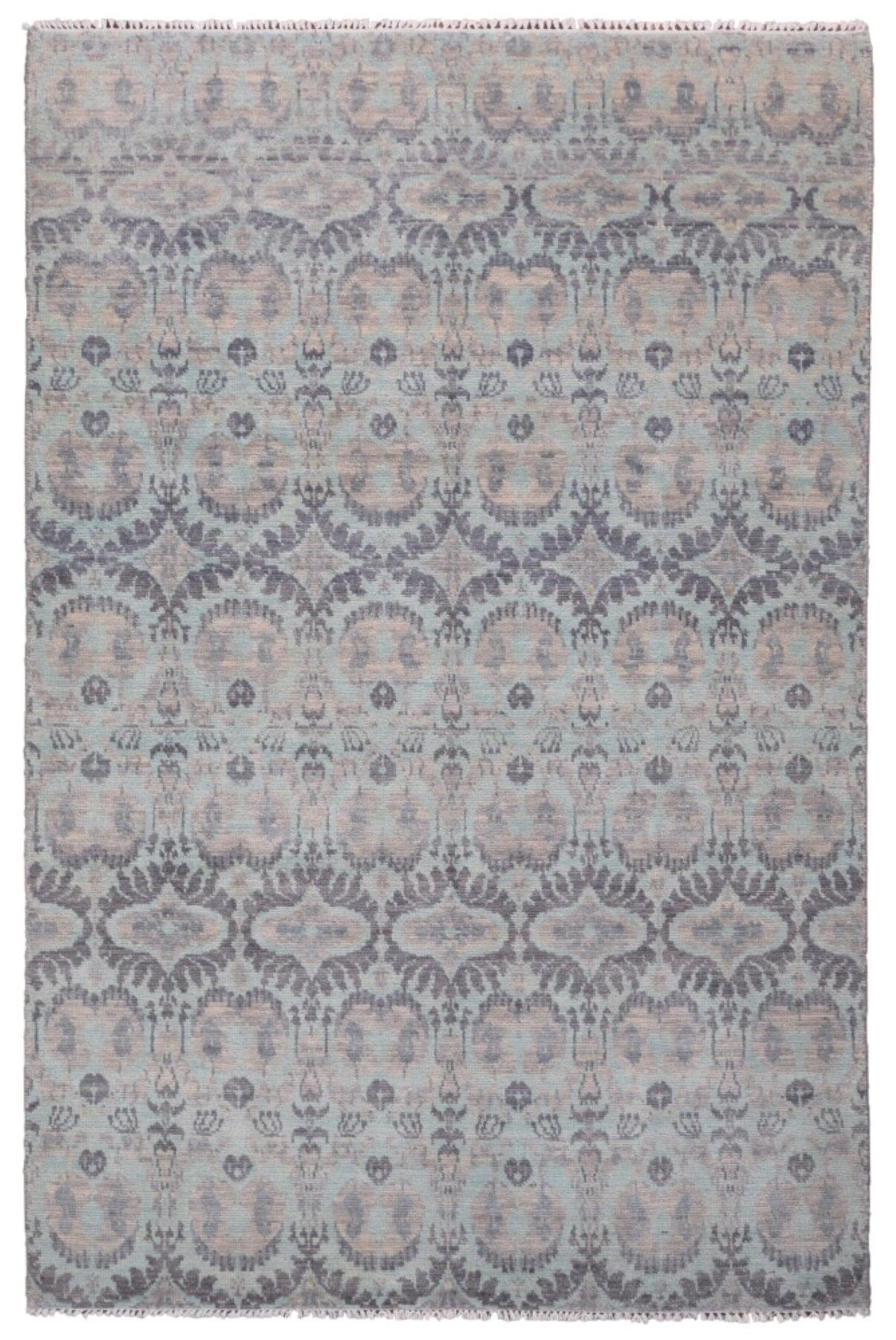 One-of-a-Kind Mitchel Turkish Knot Hand-Knotted Wool Gray Area Rug