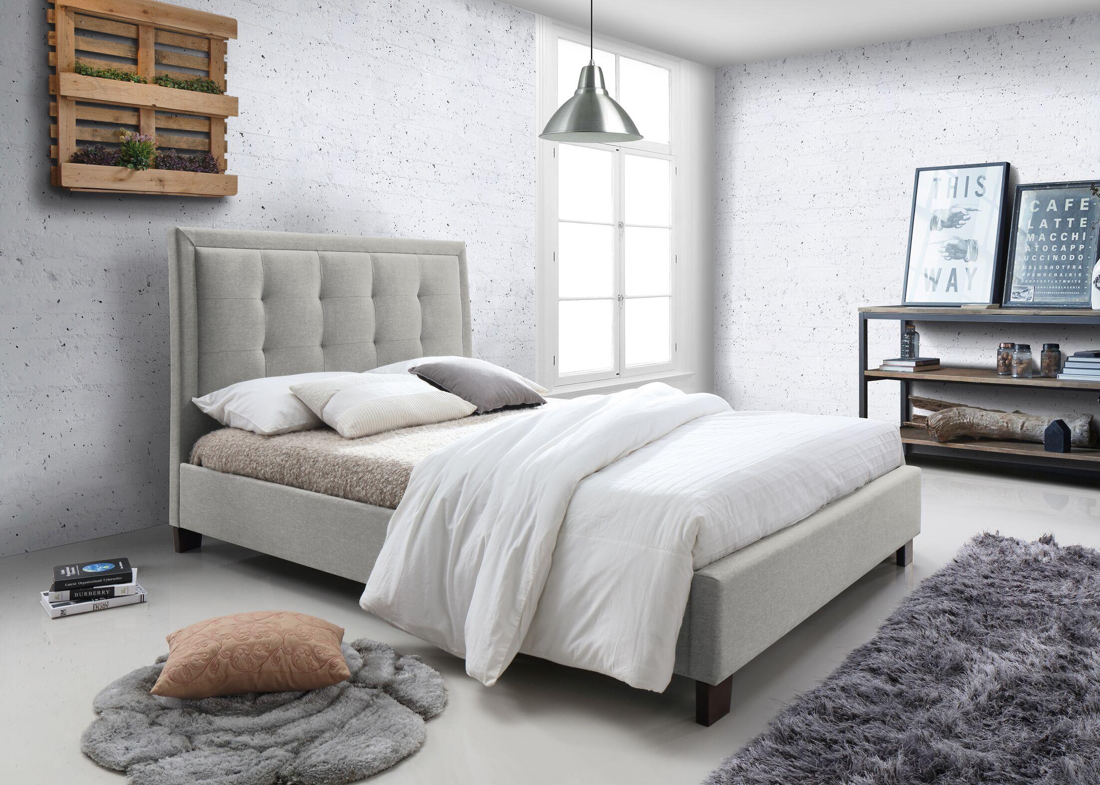 Lazaro Upholstered Platform Bed Size: King, Color: Oat