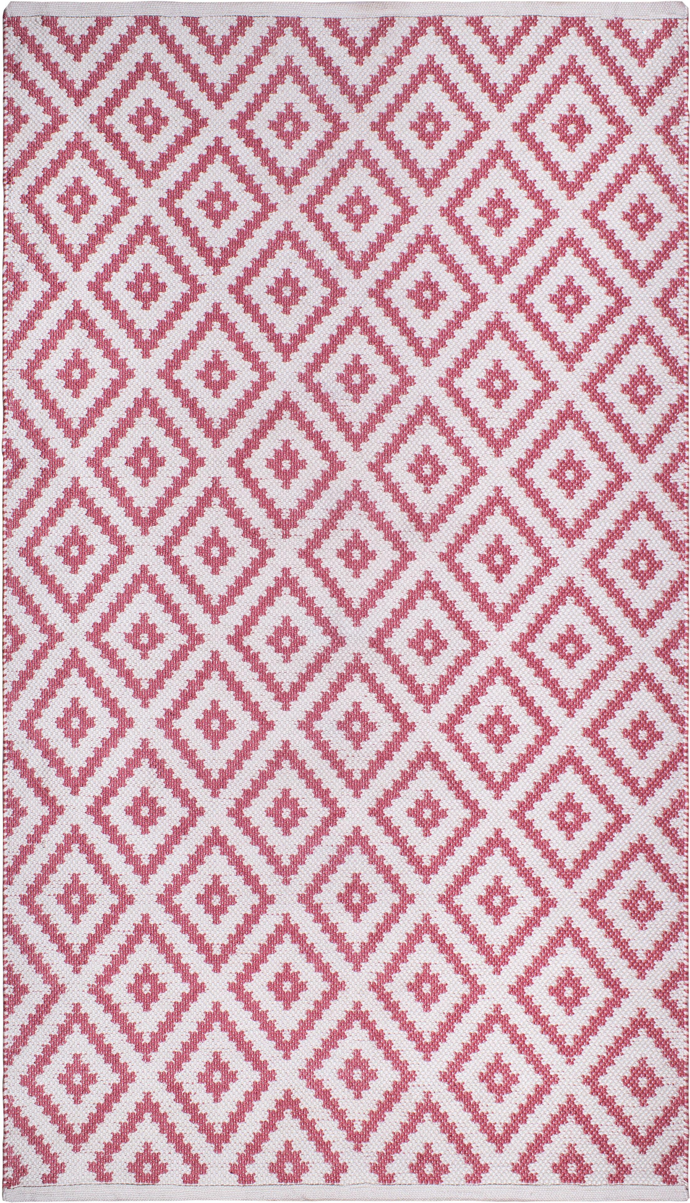 Huddleston Pink/Beige Indoor/Outdoor Area Rug Rug Size: Rectangle 8' x 10'