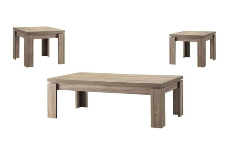 Gibbon 3 Piece Coffee Table Set Color: Weathered Brown