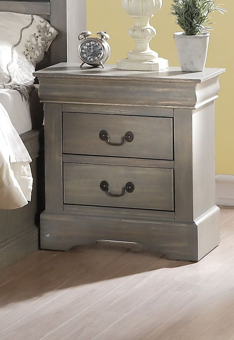 Wysocki 2 Drawer Nightstand Color: Antique Gray