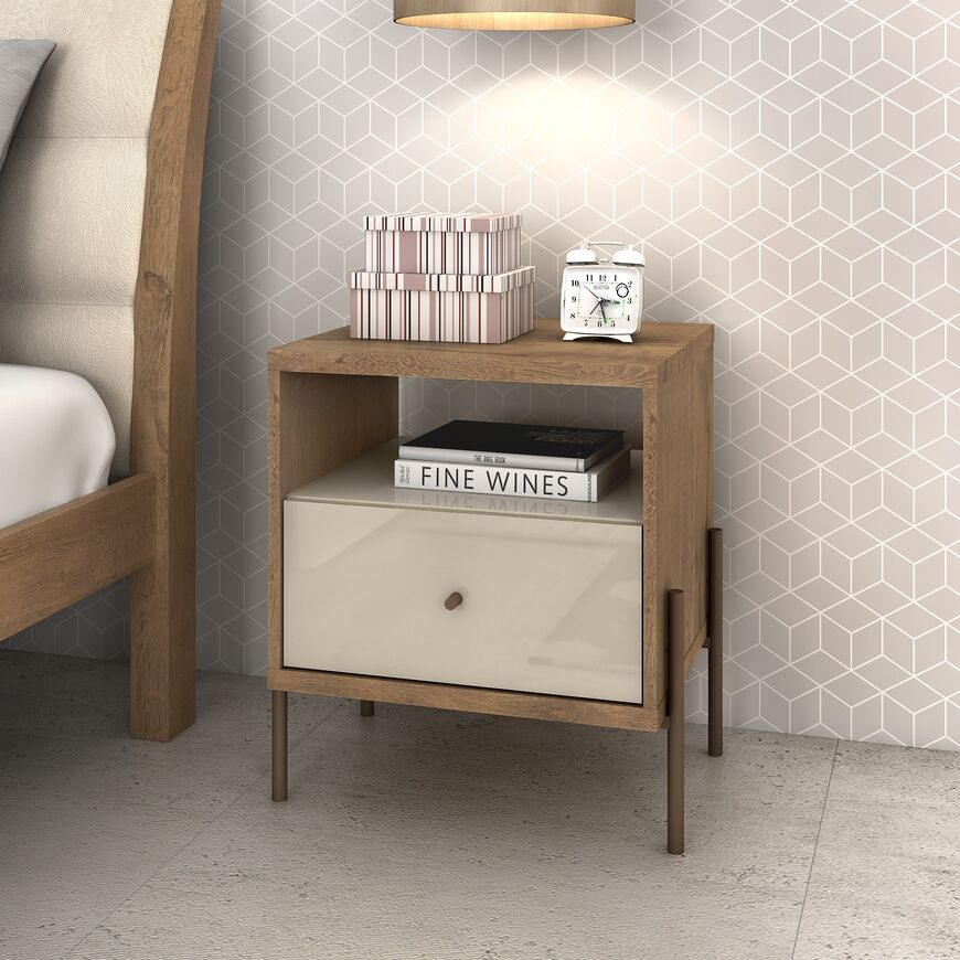 Armando 1 Drawer Nightstand Color: Off White