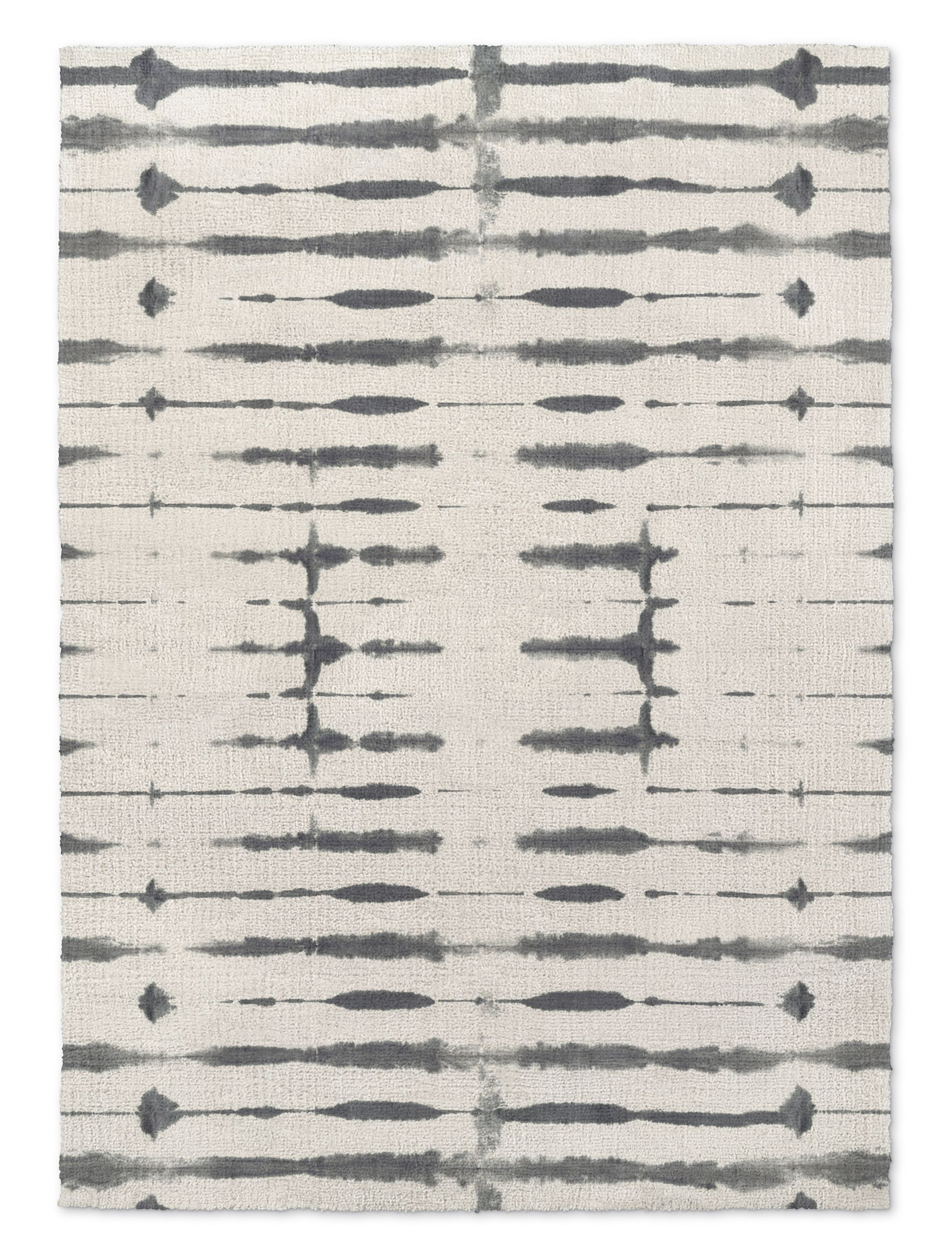 Nickson Thin Shibori Gray Area Rug Size: Rectangle 8' x 10'