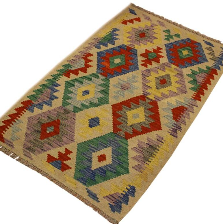 One-of-a-Kind Bakerstown Hand-Woven Wool Green Area Rug