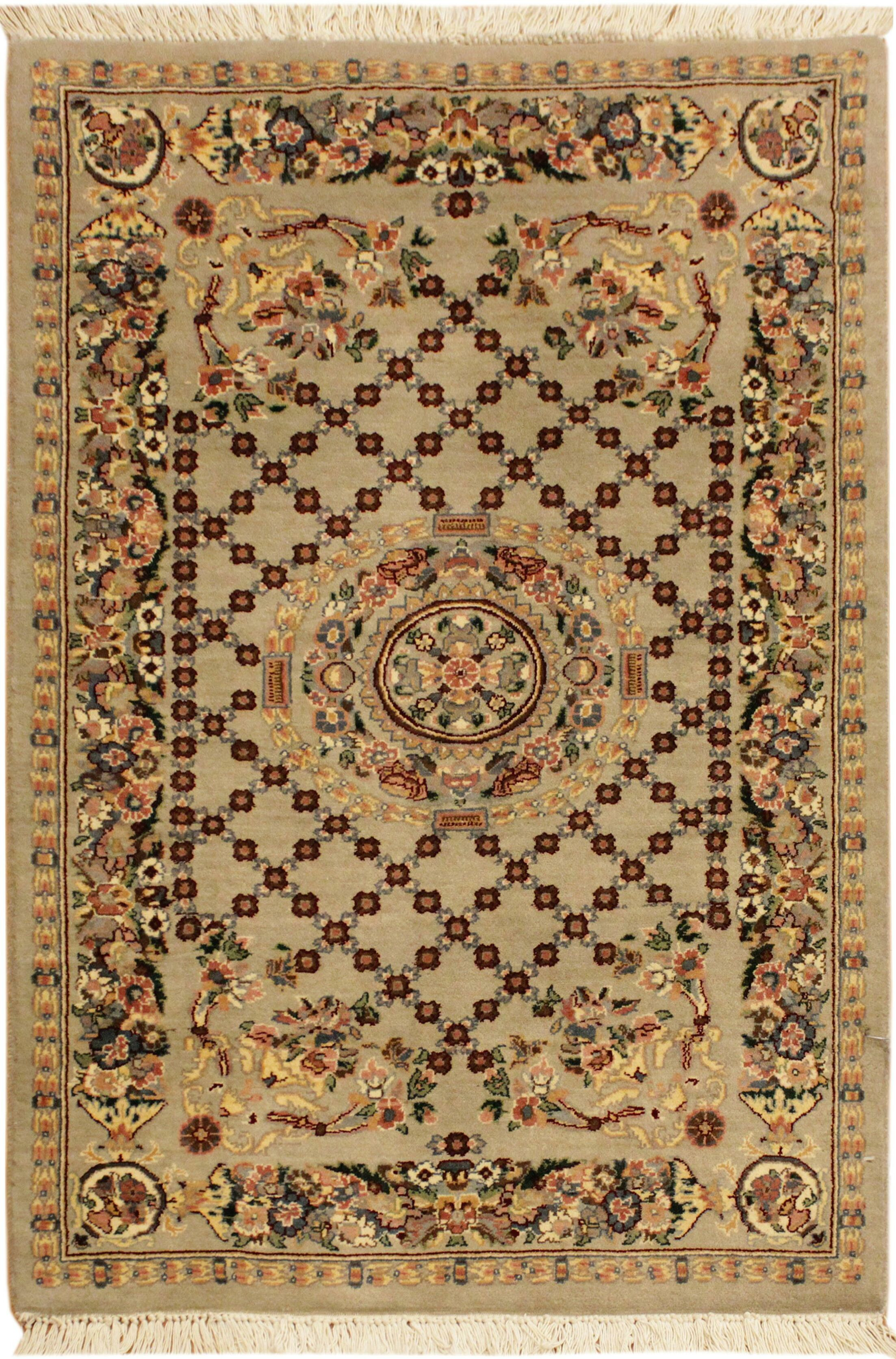 One-of-a-Kind Delron Hand-Knotted Wool Gold Area Rug