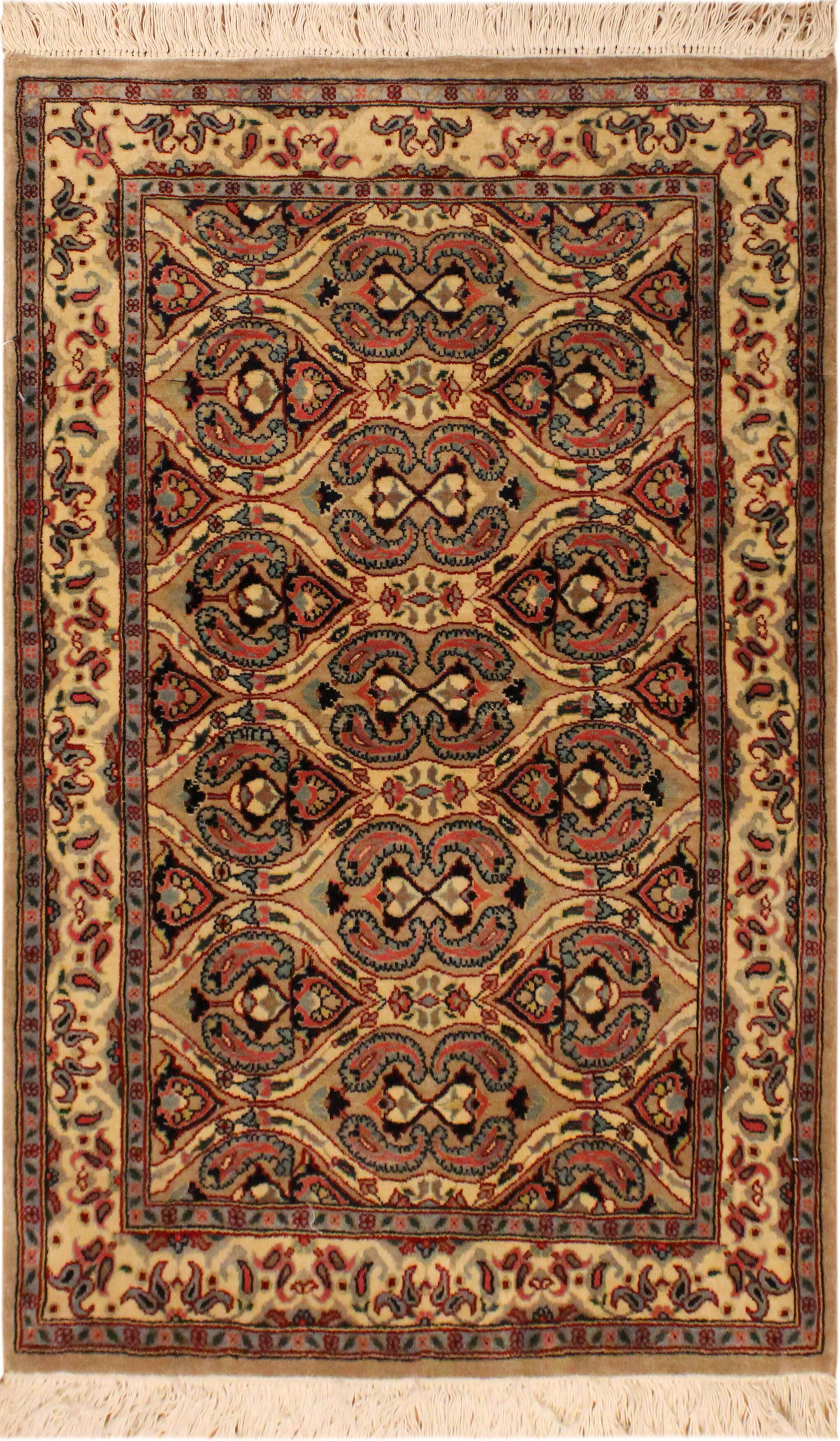 One-of-a-Kind Mcdavid Hand-Knotted Wool Light Brown/Ivory Area Rug