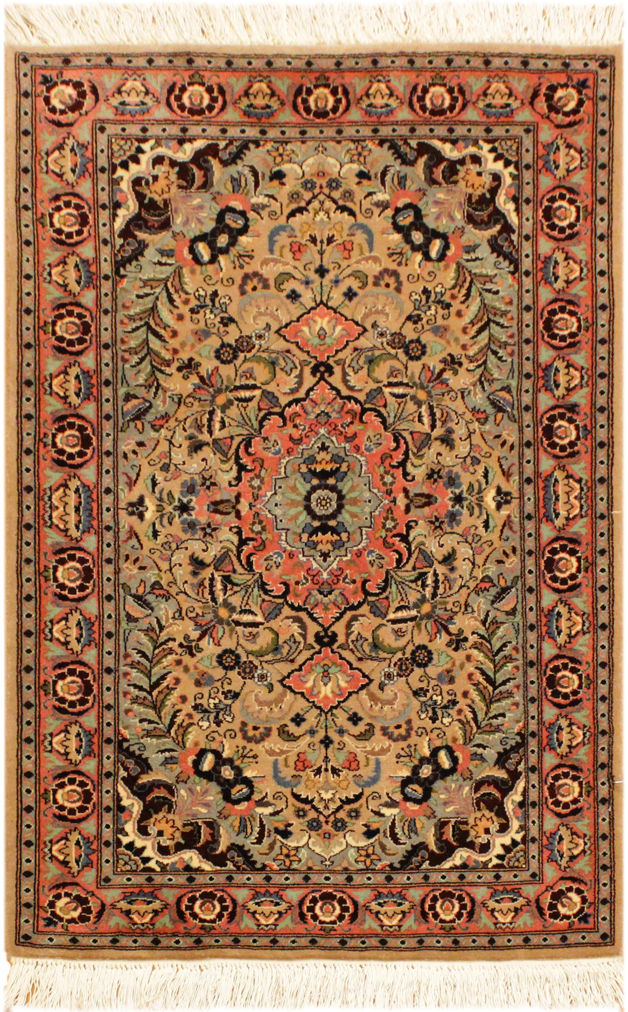 One-of-a-Kind Delron Hand-Knotted Wool Light Brown/Rose Area Rug