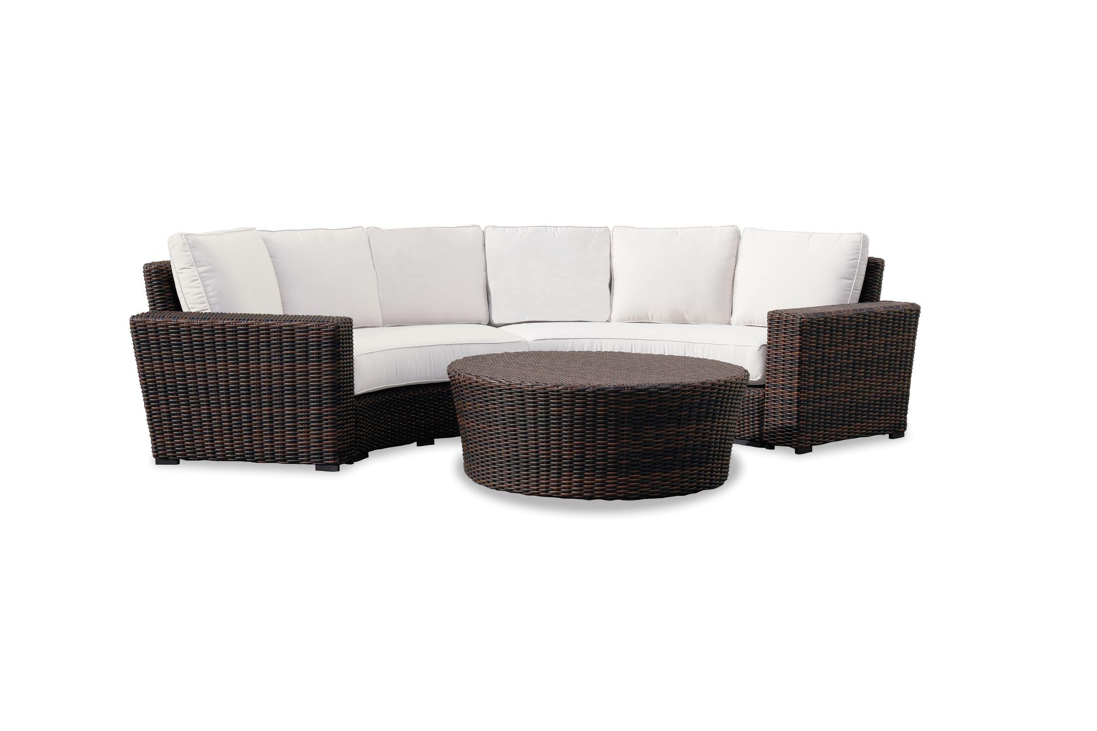 Montecito Curved Loveseat with Sunbrella Cushions