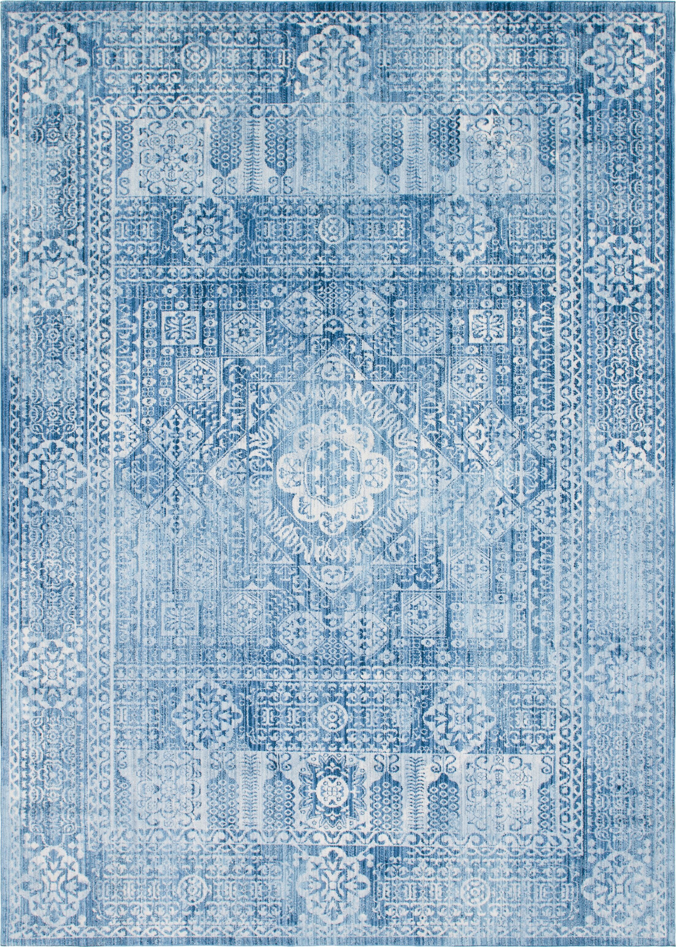 Gomez Blue Area Rug Rug Size: Rectangle 8' x 10'