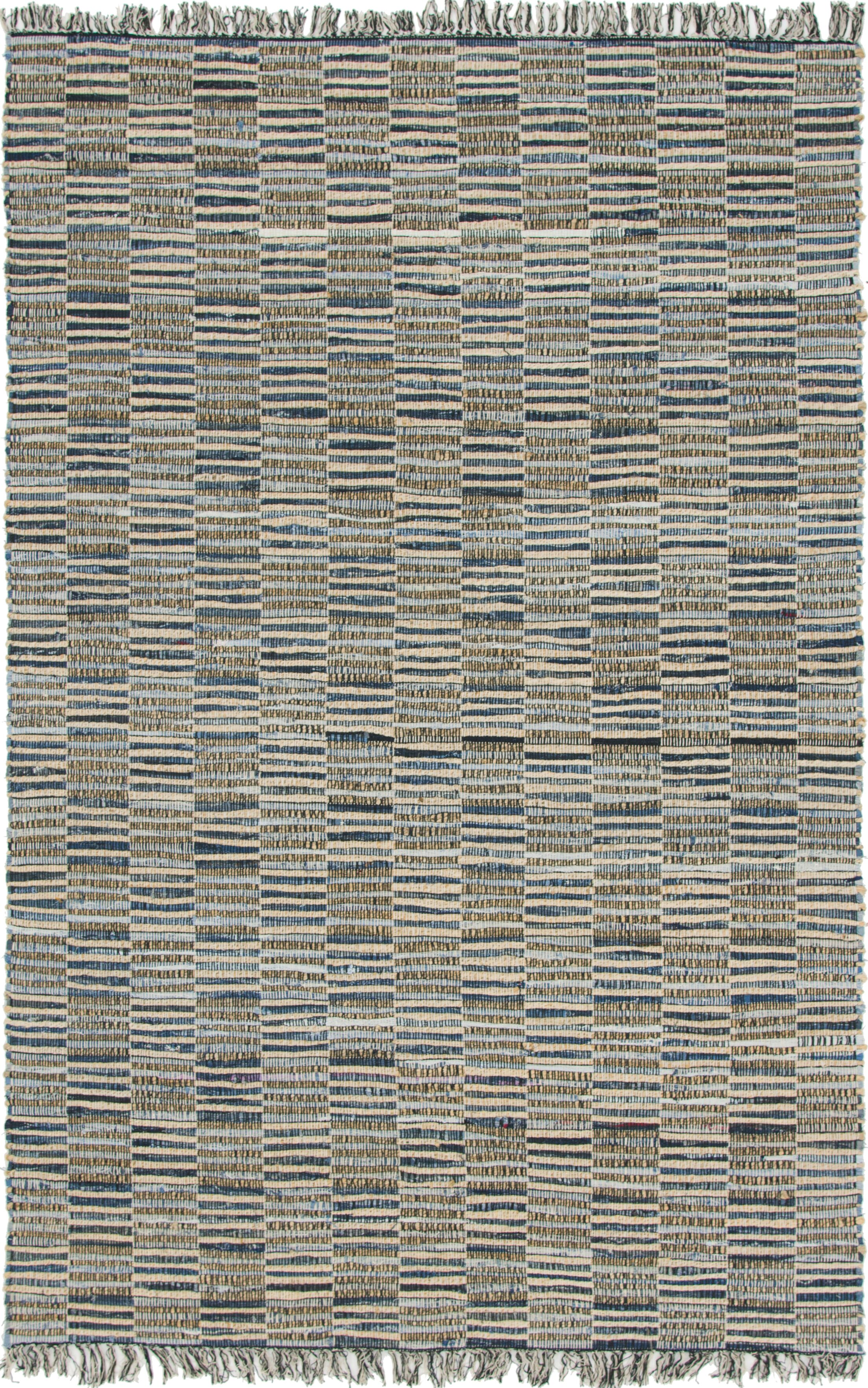 Cepeda Hand-Woven Blue Area Rug Rug Size: Rectangle 6' x 9'