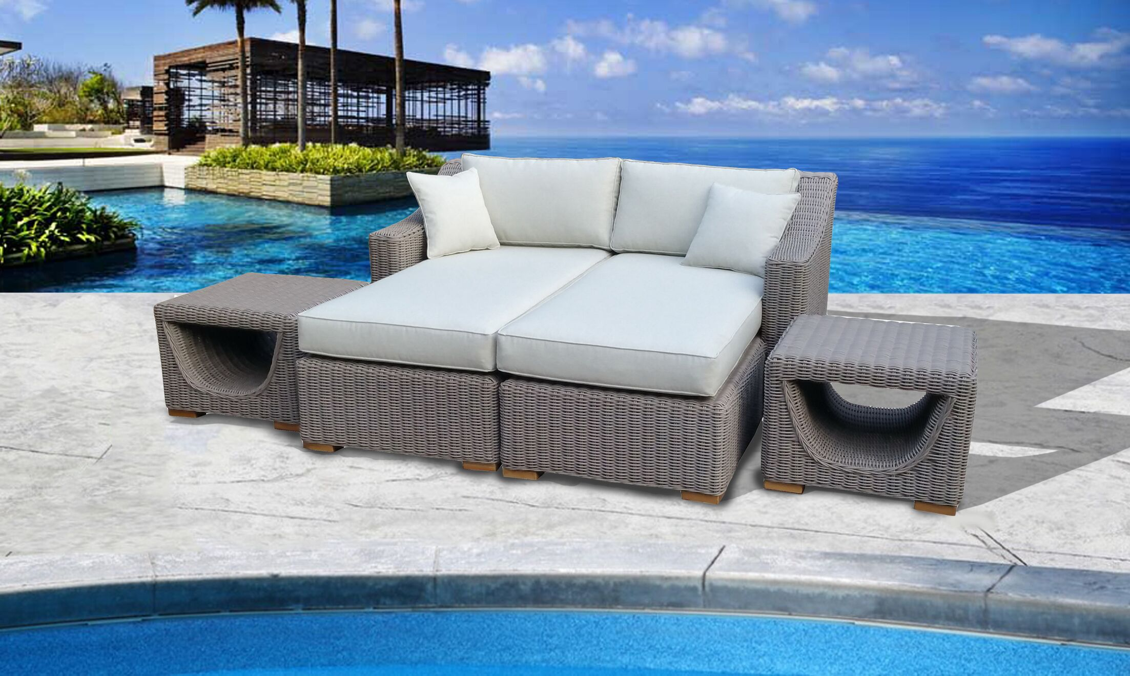 Brokaw�Premium Patio Daybed with Cushions