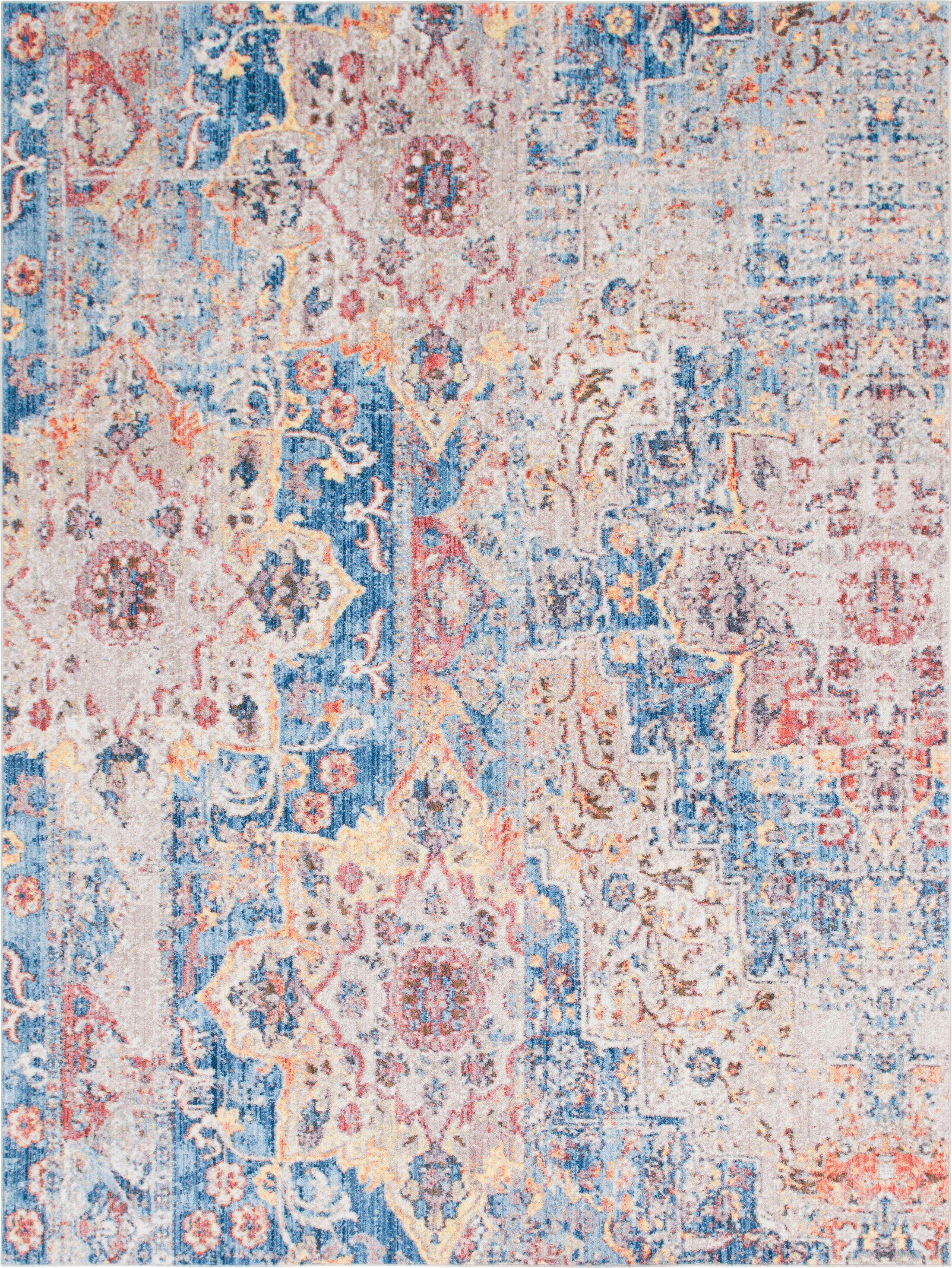 Bearden Blue Area Rug Rug Size: Rectangle 9' x 12'